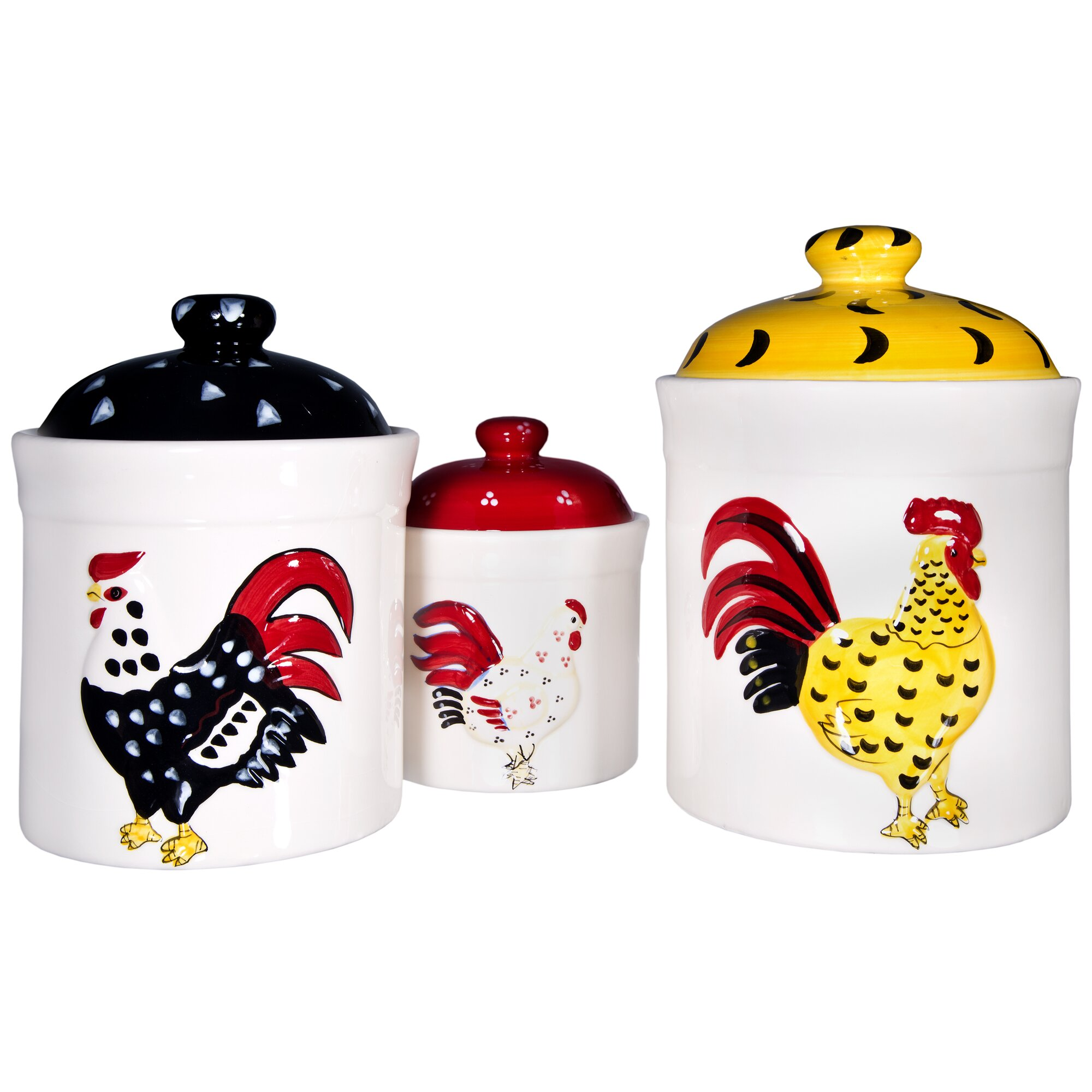 home essentials and beyond french rooster 3 piece kitchen
