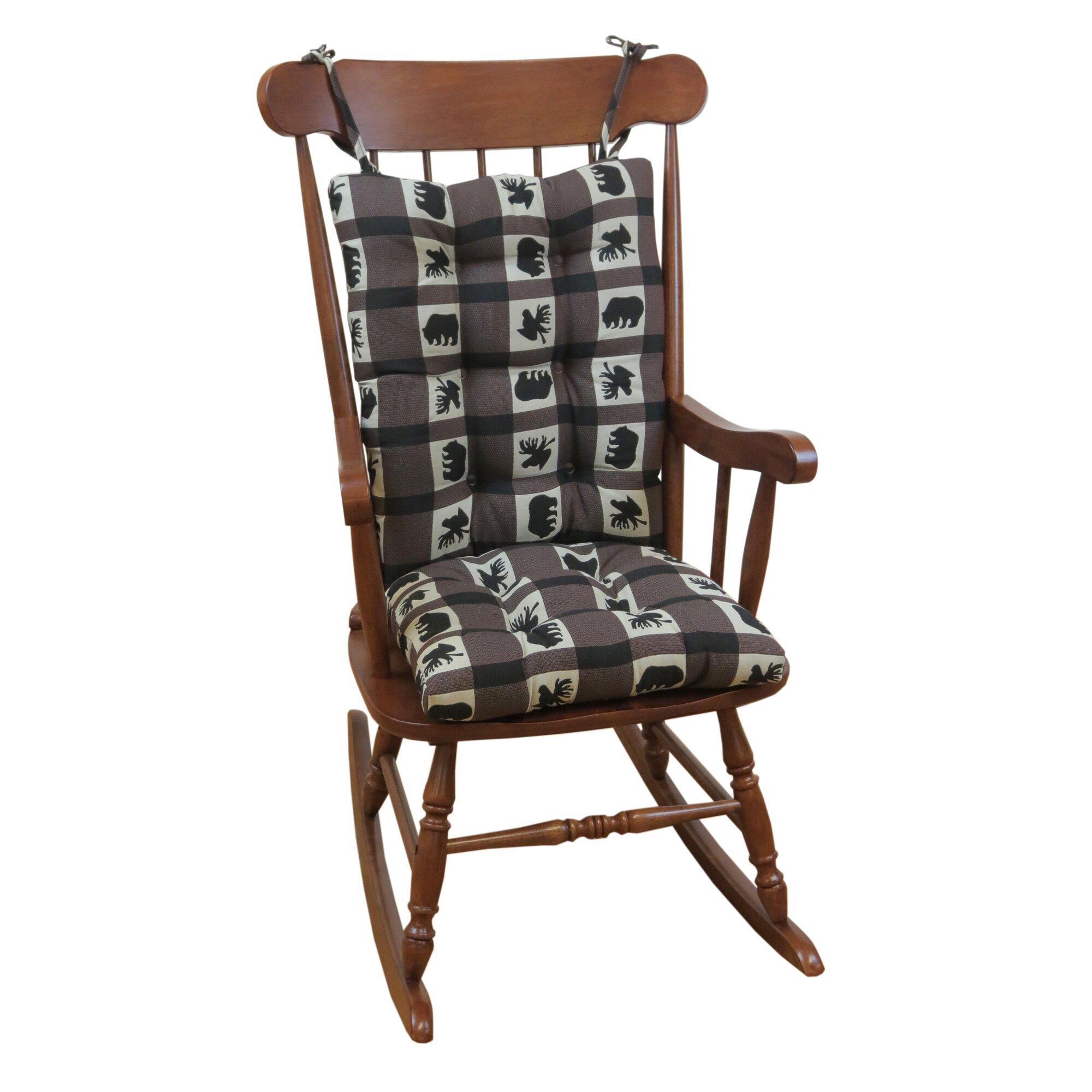 ... Plaid Gripper Jumbo Rocking Chair Cushion & Reviews  Wayfair.ca