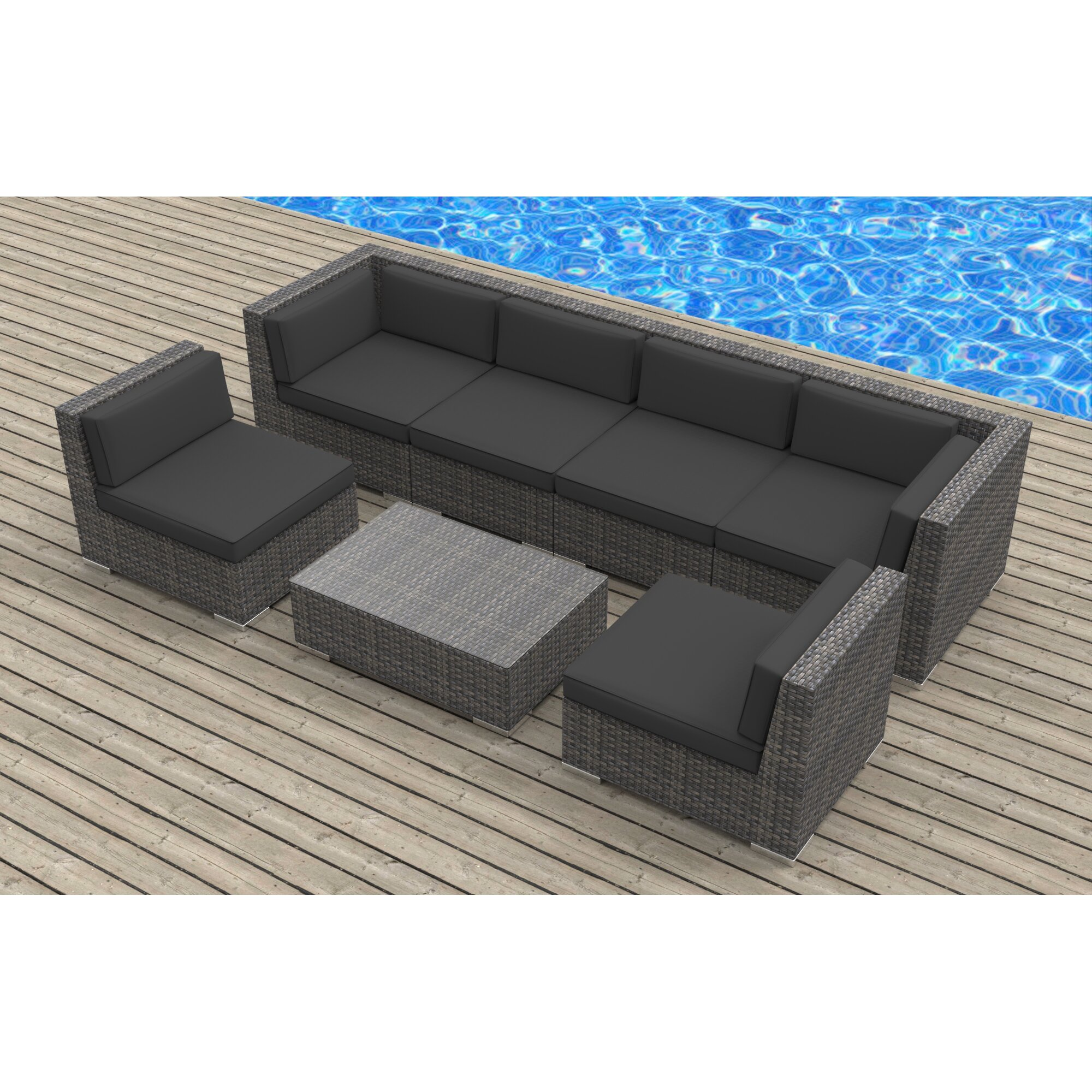 Urban Furnishings Oahu 7 Piece Deep Seating Group With