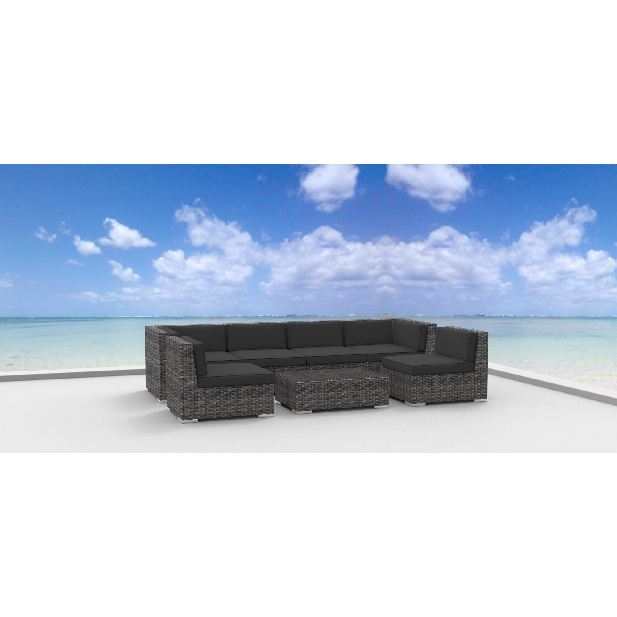 Urban Furnishings Oahu 7 Piece Deep Seating Group With