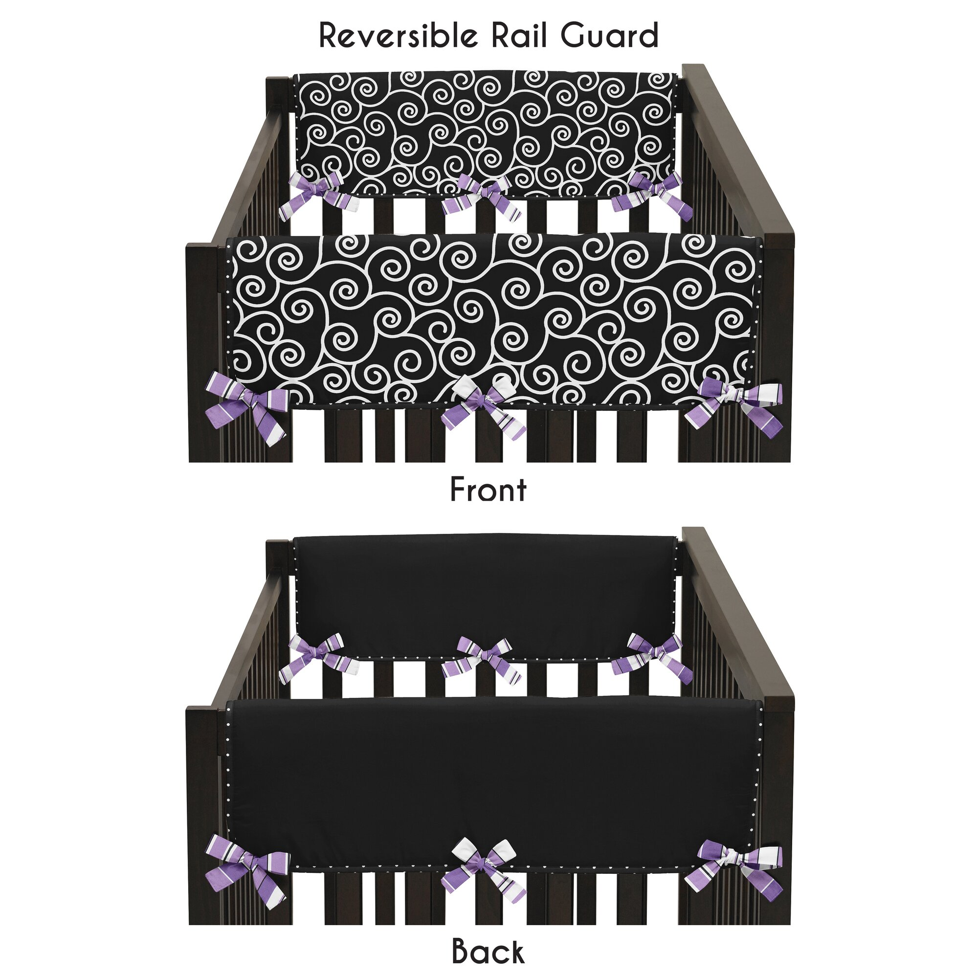 Sweet Jojo Designs Kaylee Side Crib Rail Guard Cover