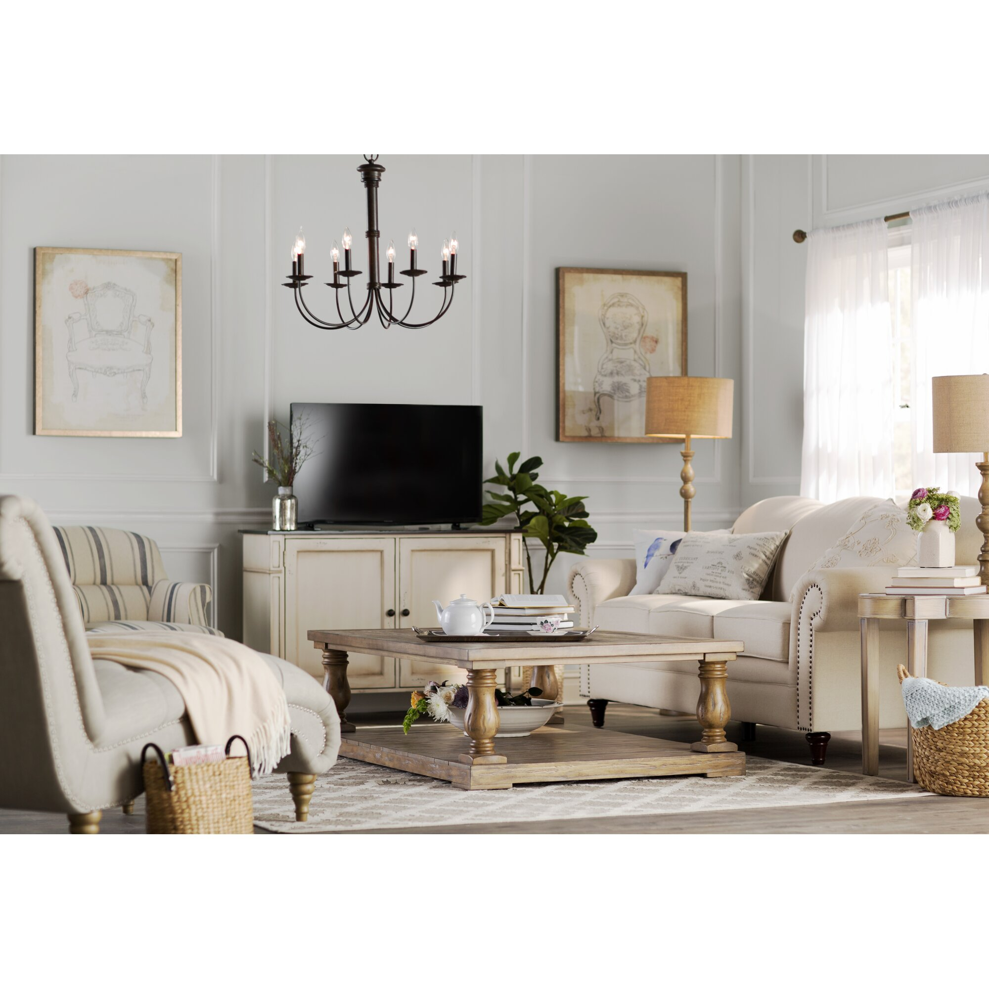 Lark Manor Versailles Living Room Chaise Lounge & Reviews ...