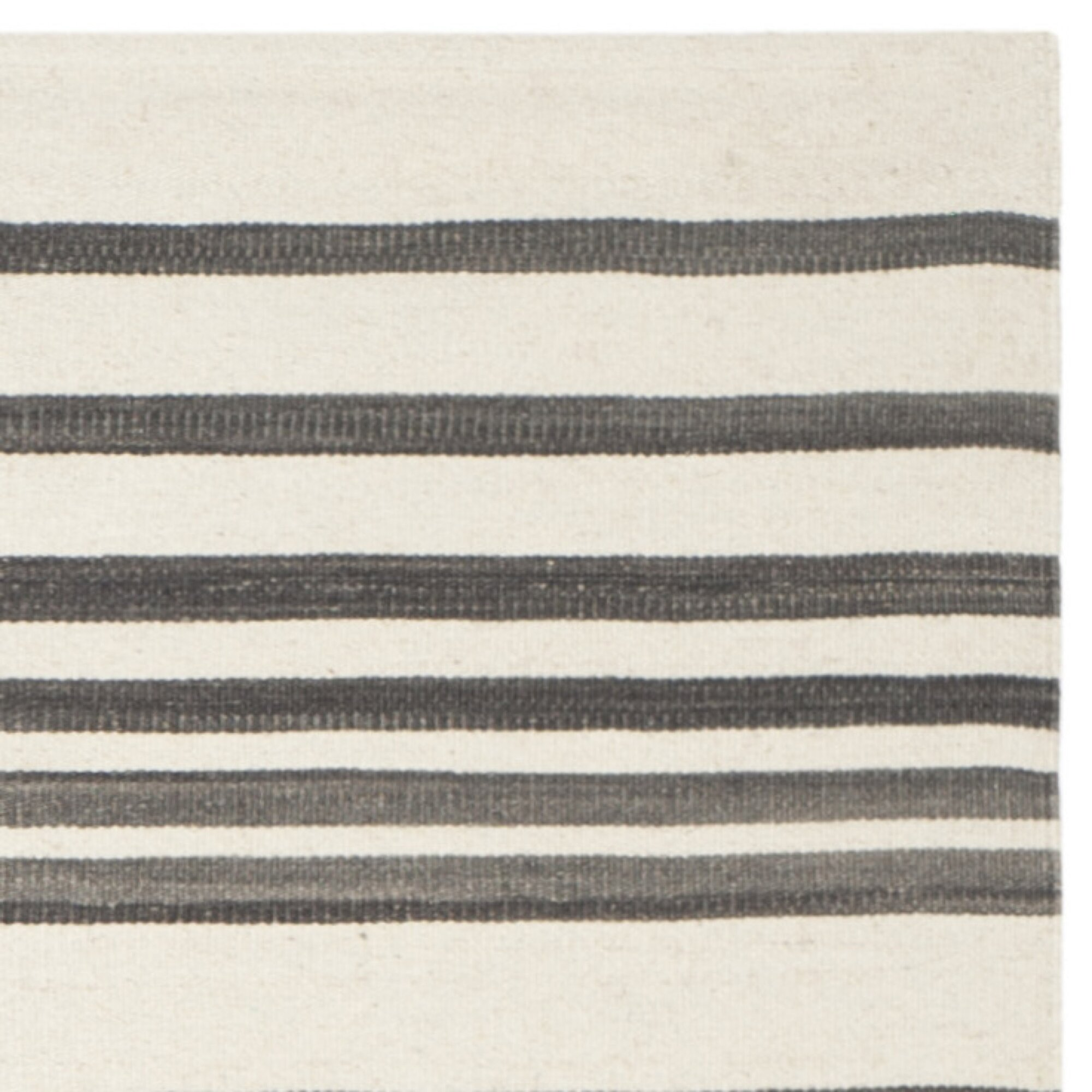 kilim brown ivory striped rug allmodern