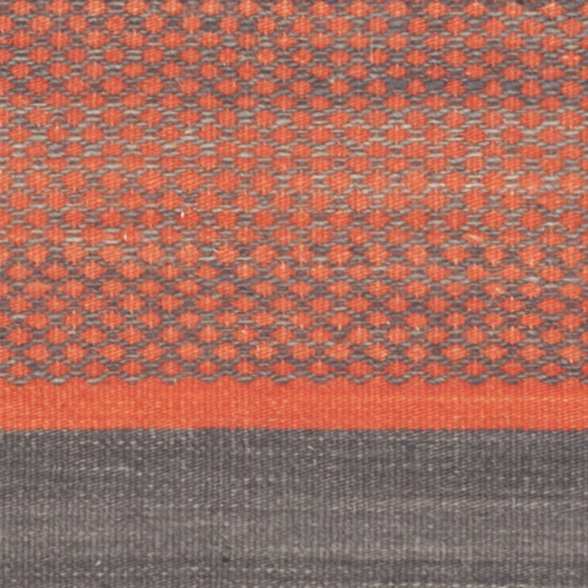 Safavieh Kilim Dark Grey Orange Striped Rug Amp Reviews