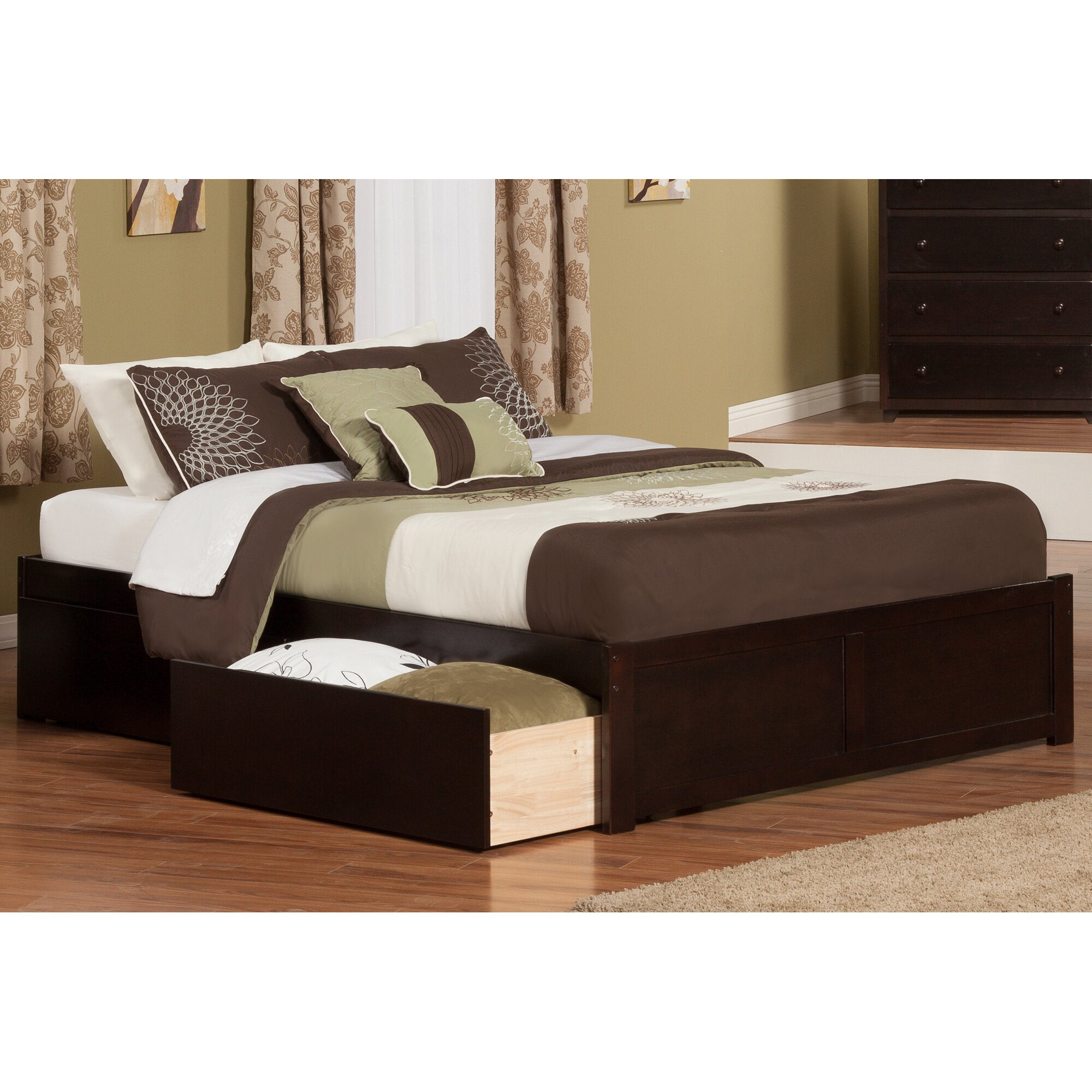 andover mills mackenzie king storage platform bed reviews. Black Bedroom Furniture Sets. Home Design Ideas