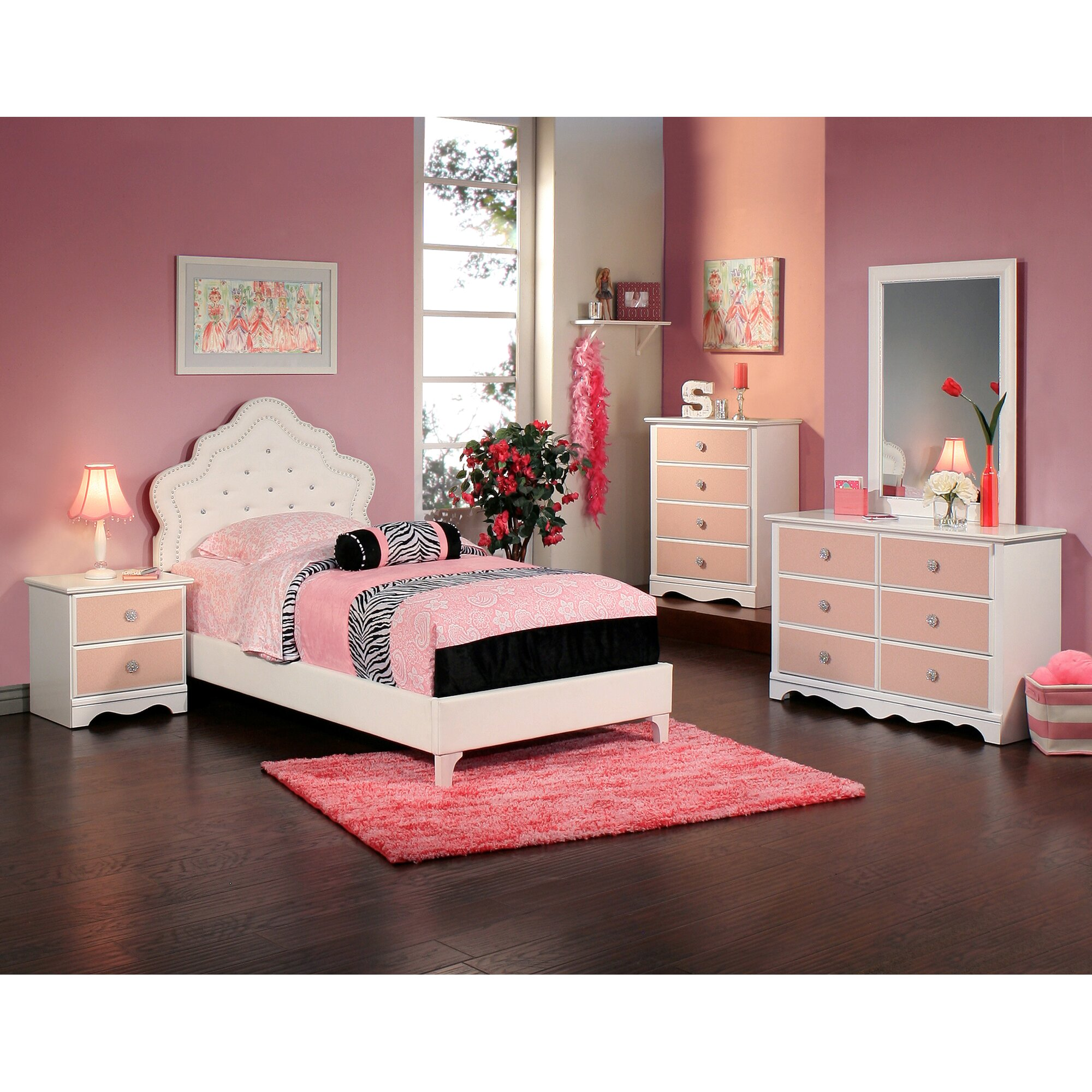 Sabrina Panel Customizable Bedroom Set