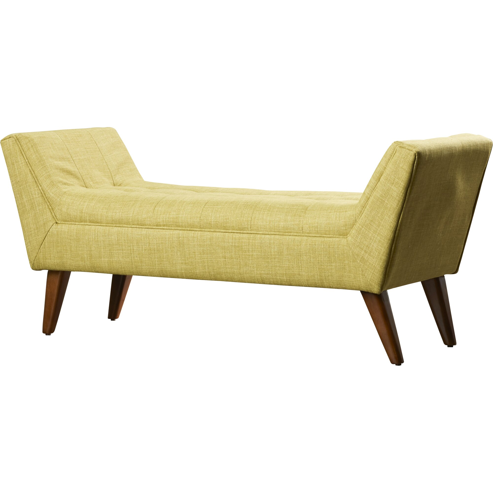 Bedroom bench with arms - Serena Upholstered Bedroom Bench