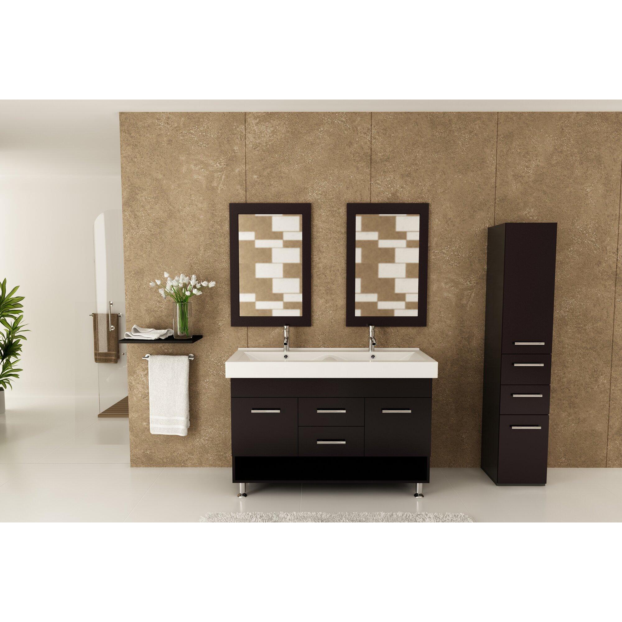 jwh living rigel 48 quot  double bathroom vanity set   reviews 48 Double Sink Bathroom Vanity 48 Inch Double Bathroom Vanity