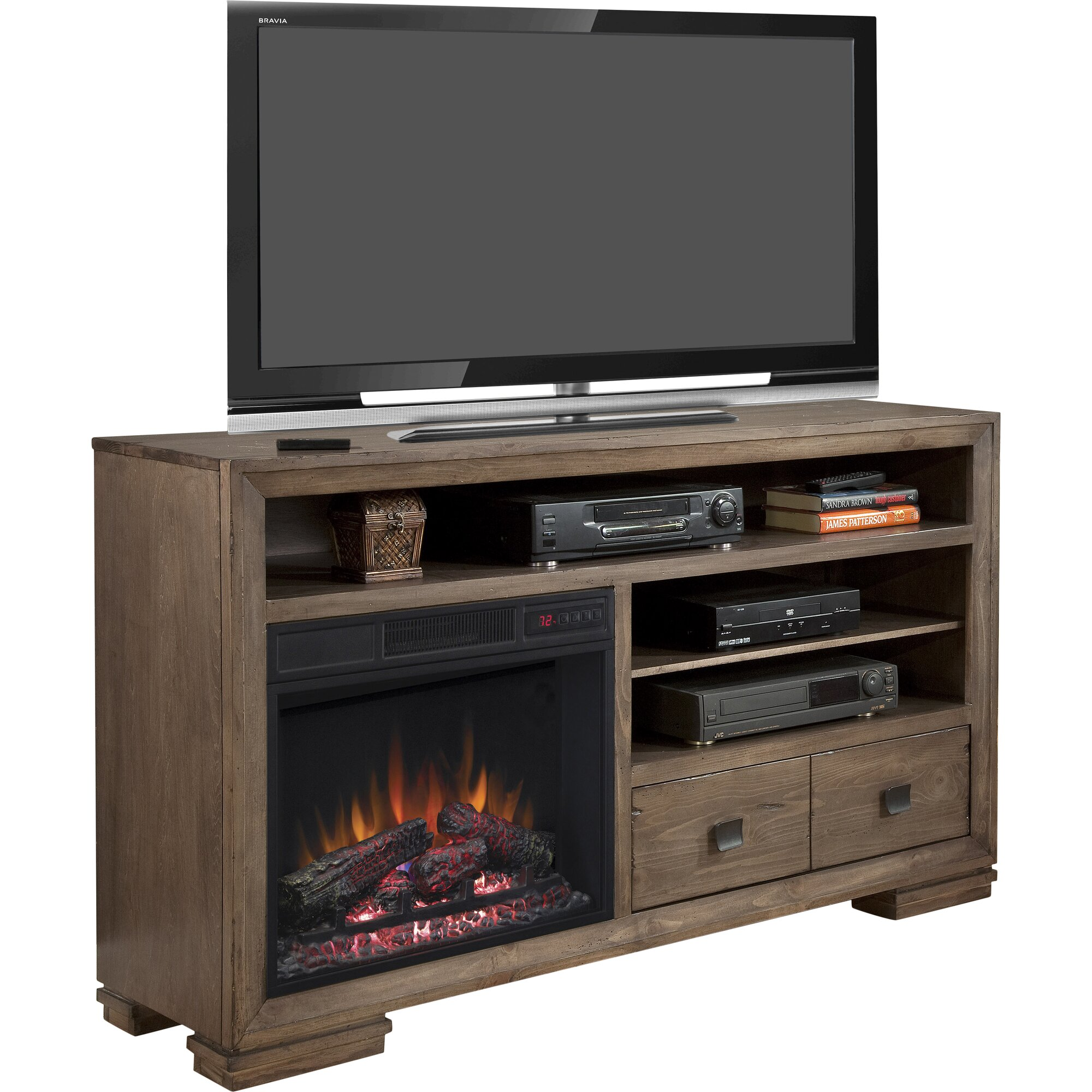 "Loon Peak Escudilla 60"" TV Stand with Electric Fireplace"