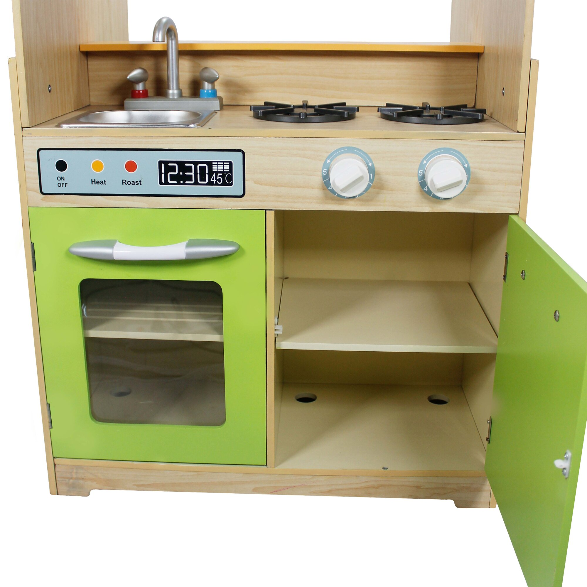 Teamson kids play kitchen with dual washers set wayfair for Kids full kitchen set