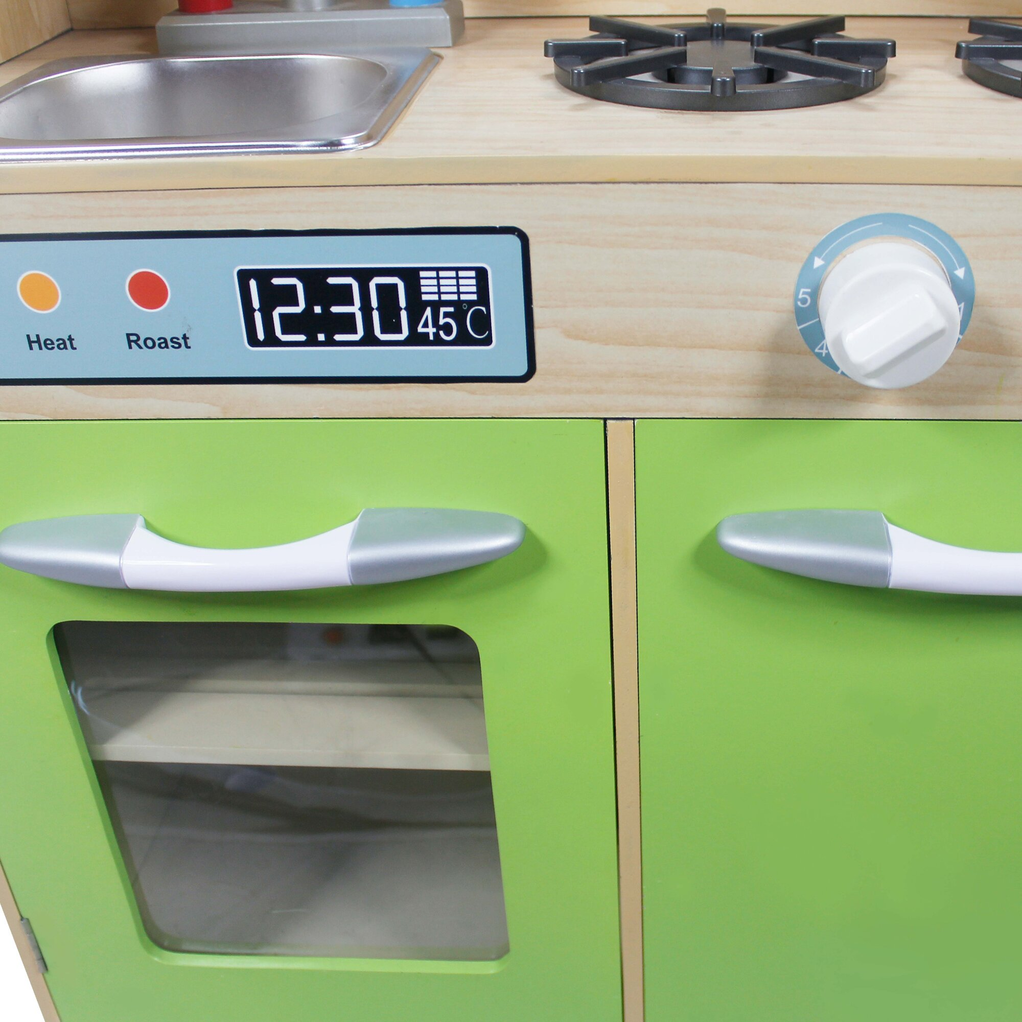 Teamson kids play kitchen with dual washers set wayfair for Kitchen set 2 jutaan