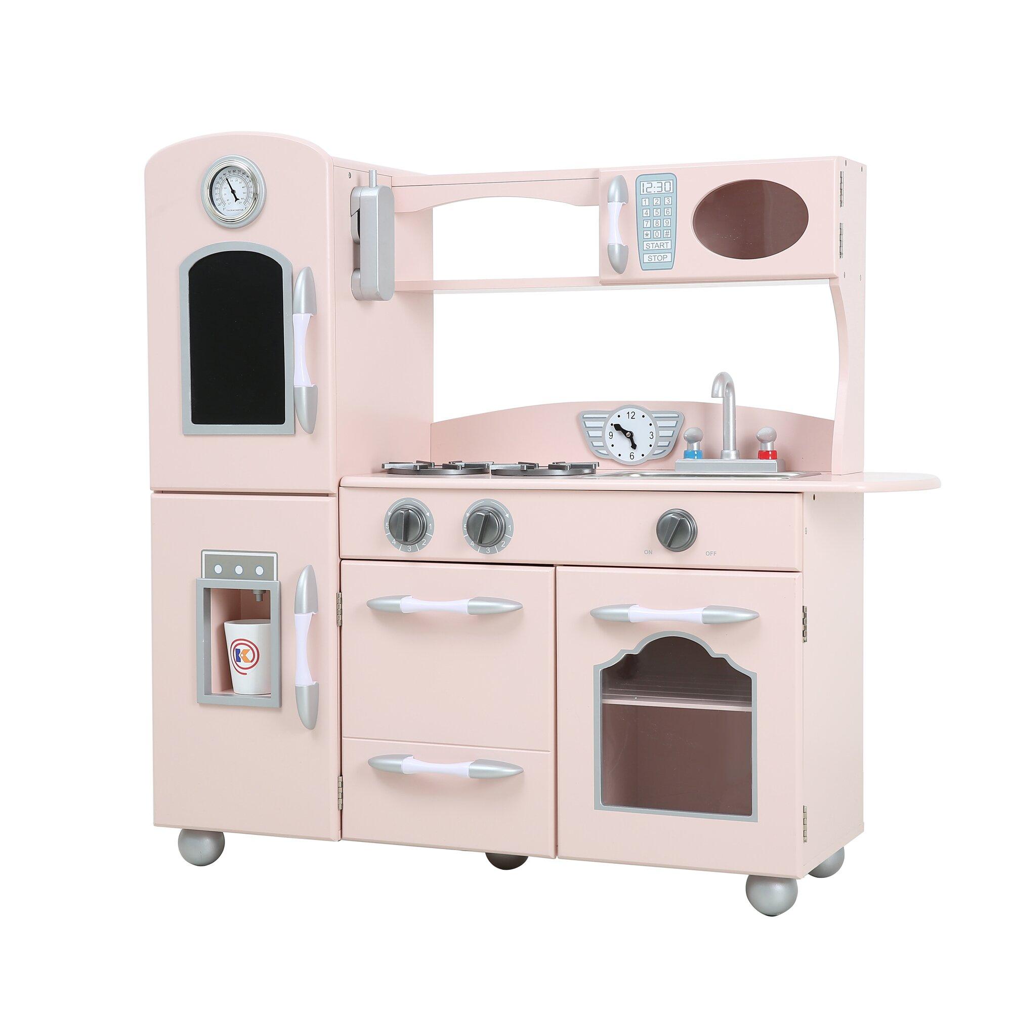 Wooden Kitchen Sets ~ Teamson kids wooden play kitchen set reviews wayfair