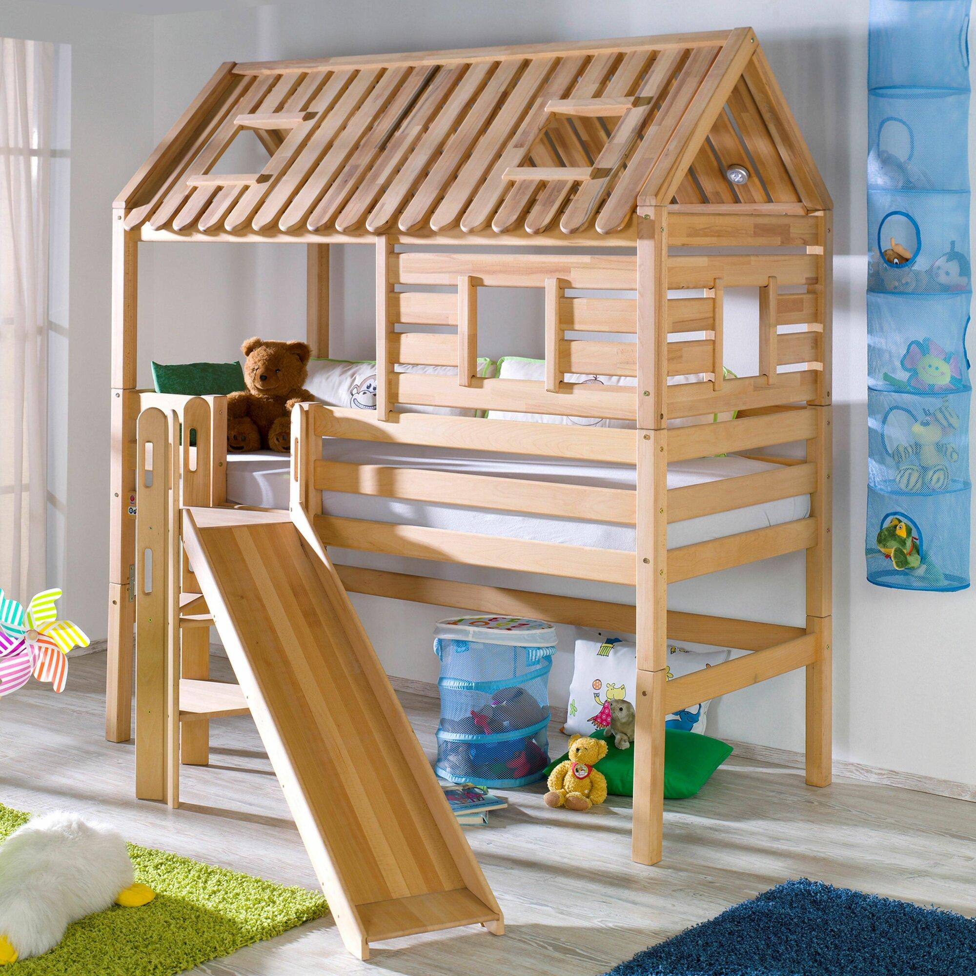 relita hochbett tom 39 s h tte mit rutsche 90 x 200 cm. Black Bedroom Furniture Sets. Home Design Ideas