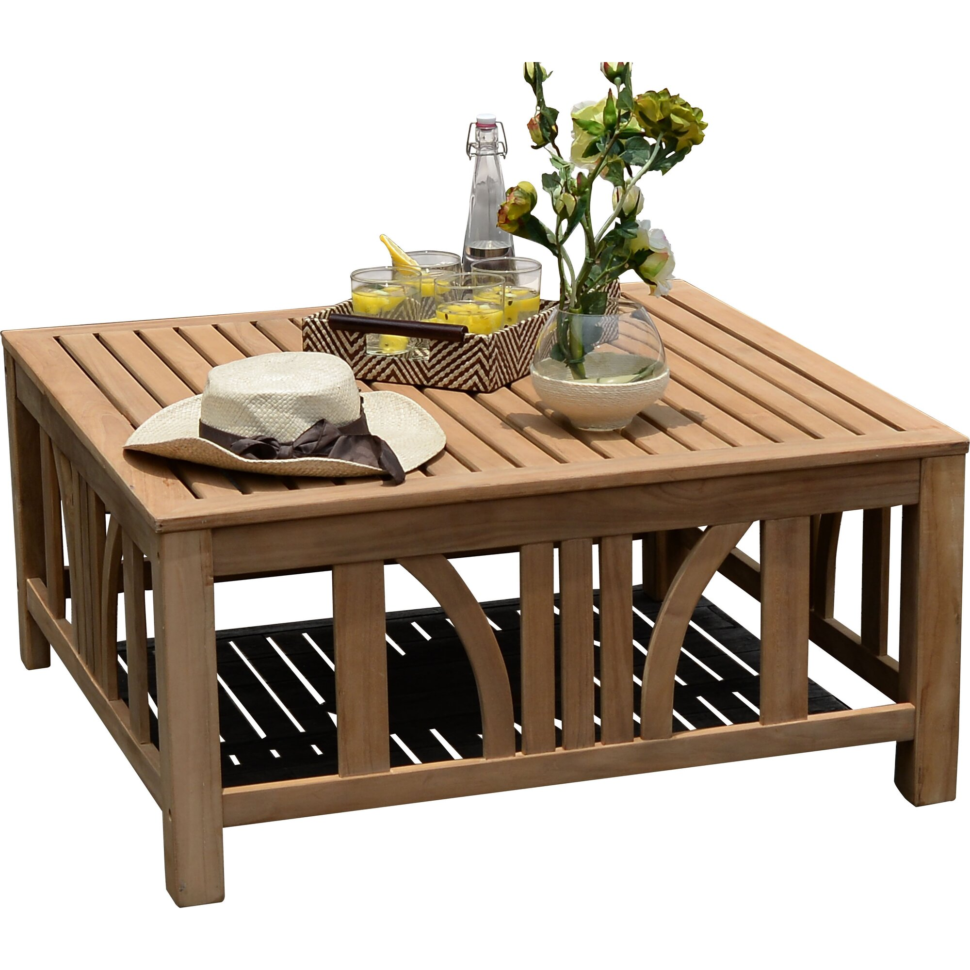 Cambridge casual kensington coffee table reviews wayfair for Wayfair outdoor coffee table