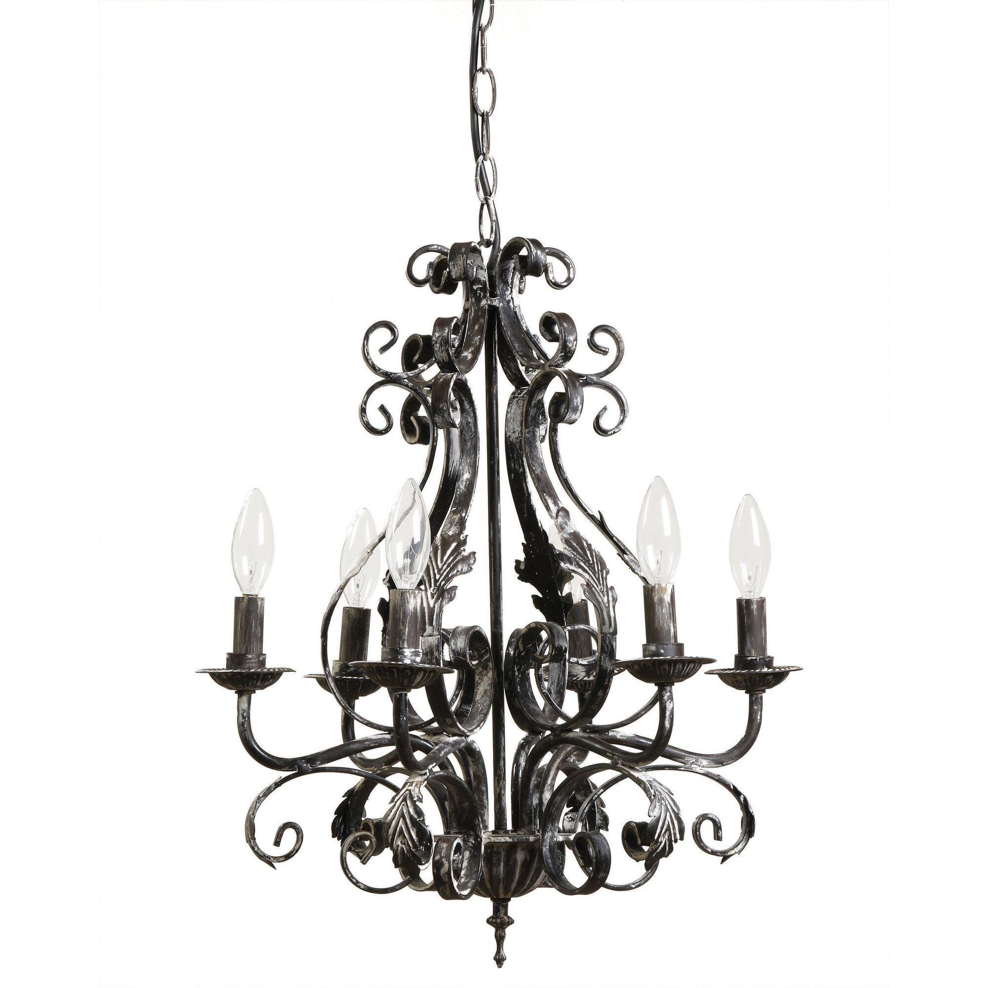 Creative co op lighting - Haven 6 Light Candle Style Chandelier