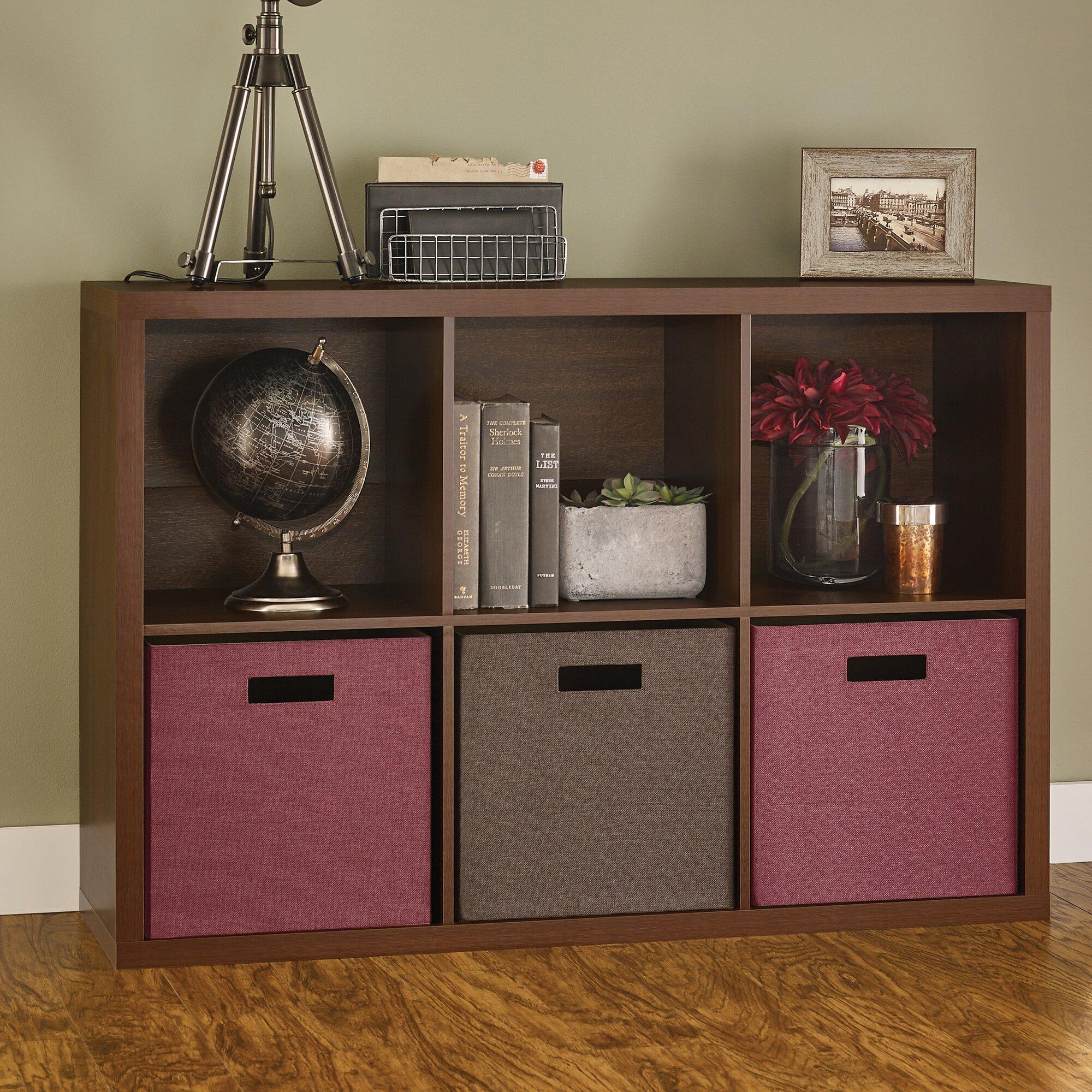 Decorative Boxes For Bookshelf : Closetmaid decorative storage quot cube unit bookcase