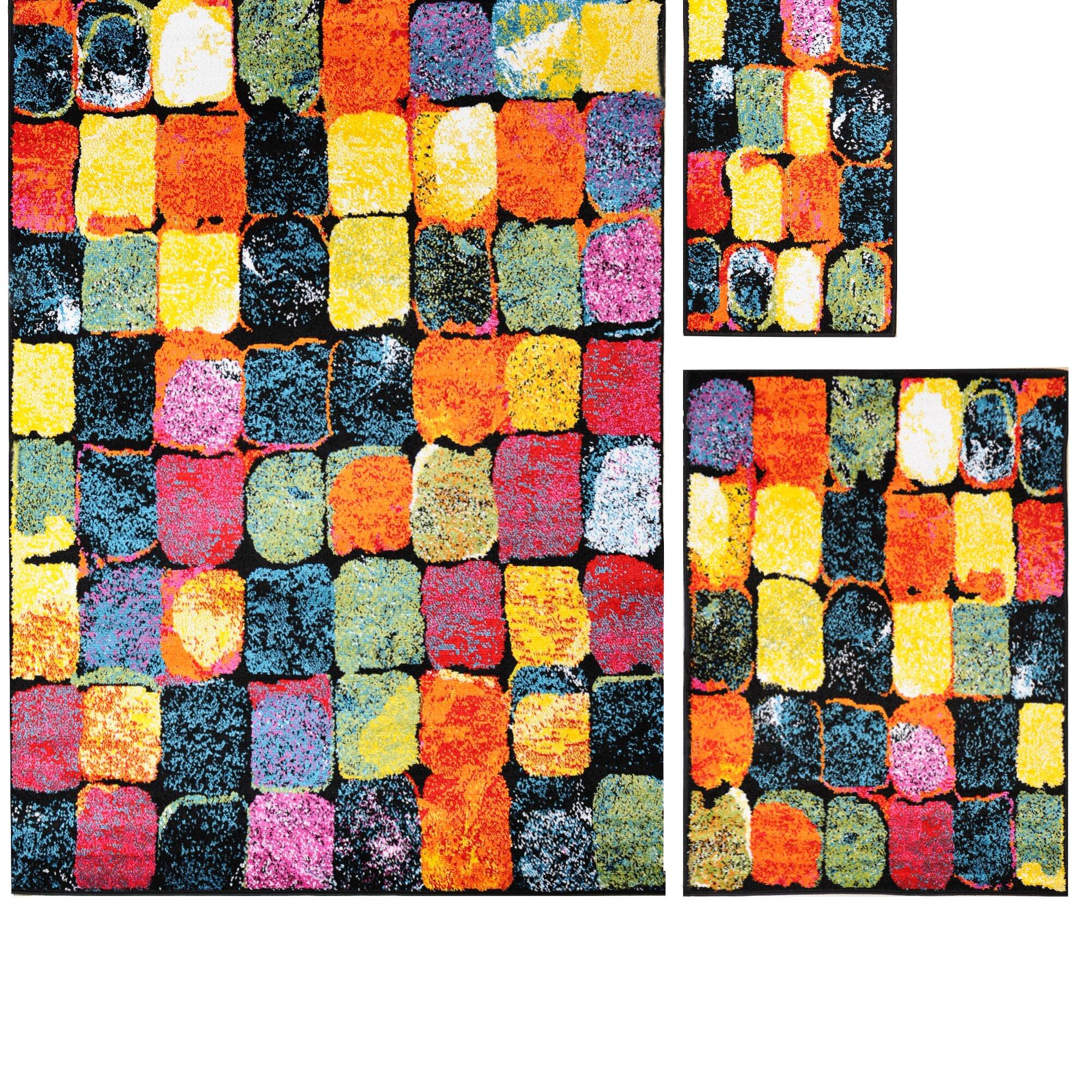 3 piece rug set