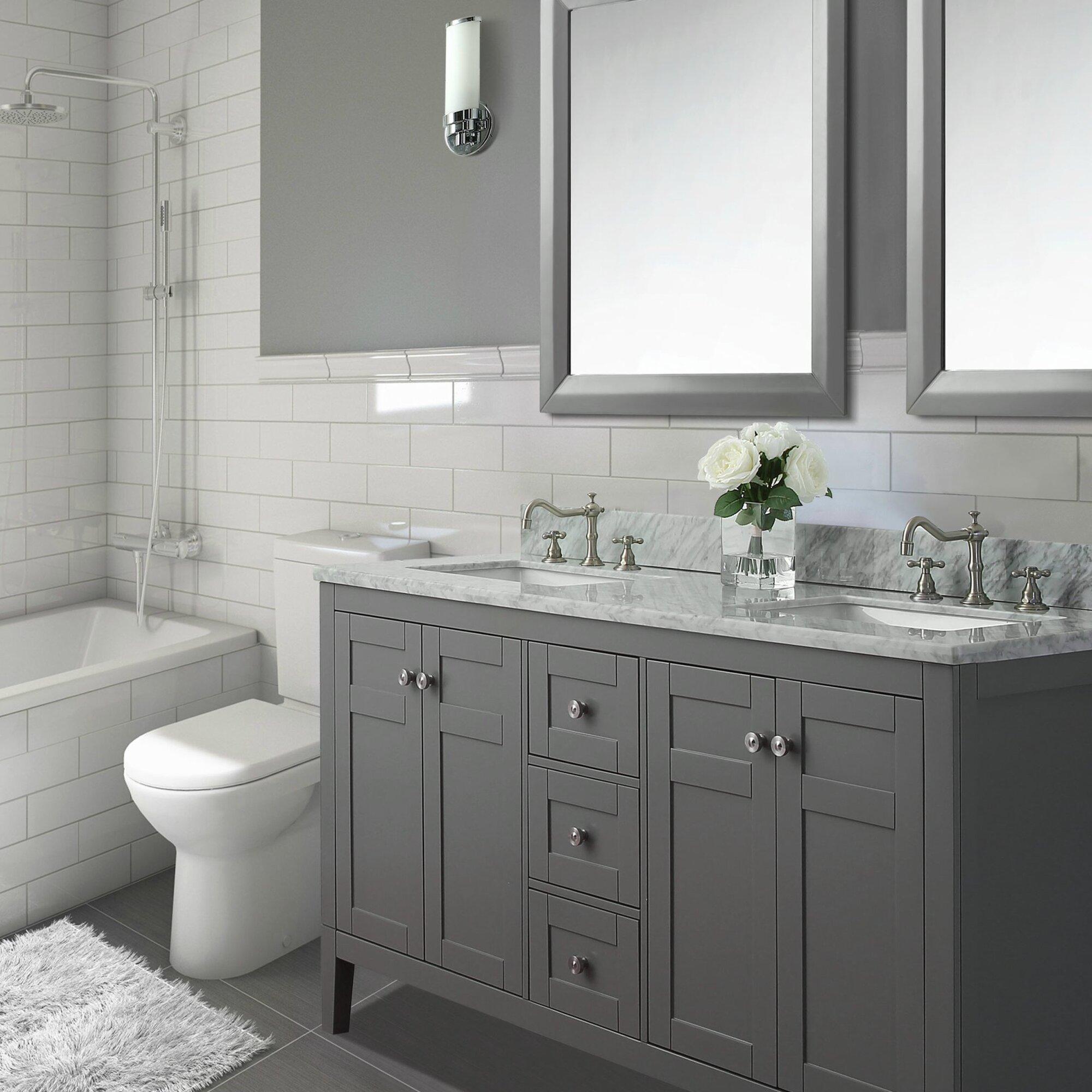 "Ancerre Designs Maili 60"" Double Bathroom Vanity Set"