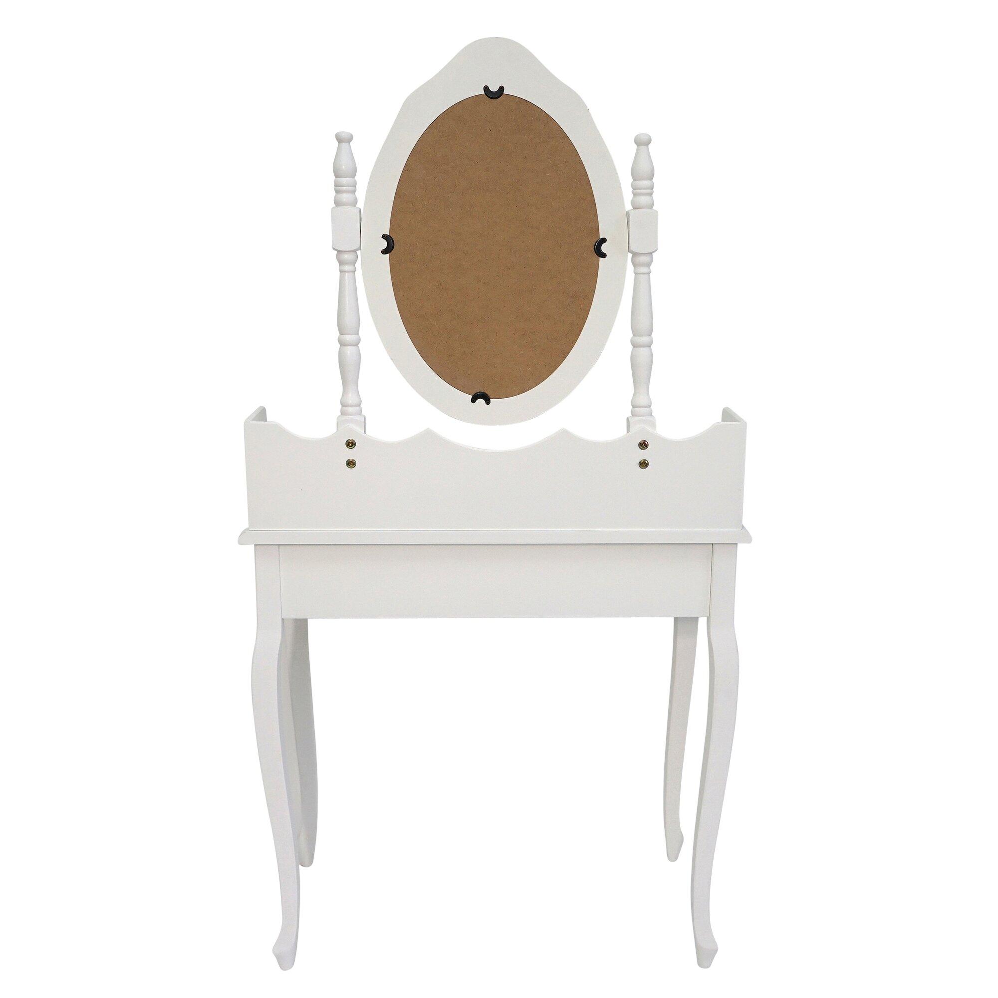 maison alouette schminktisch juneau mit spiegel. Black Bedroom Furniture Sets. Home Design Ideas