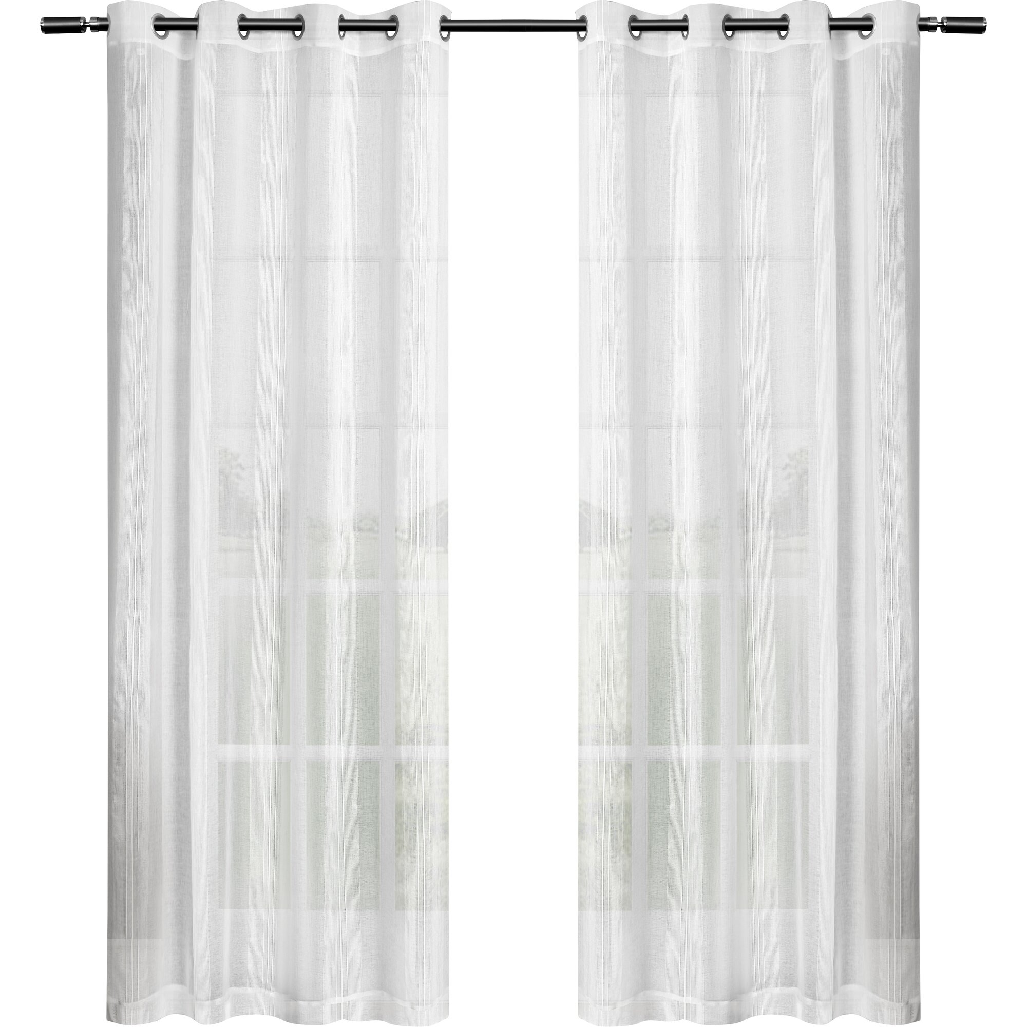 Amalgamated Textiles Exclusive Home Solid Sheer Curtain Panels Reviews