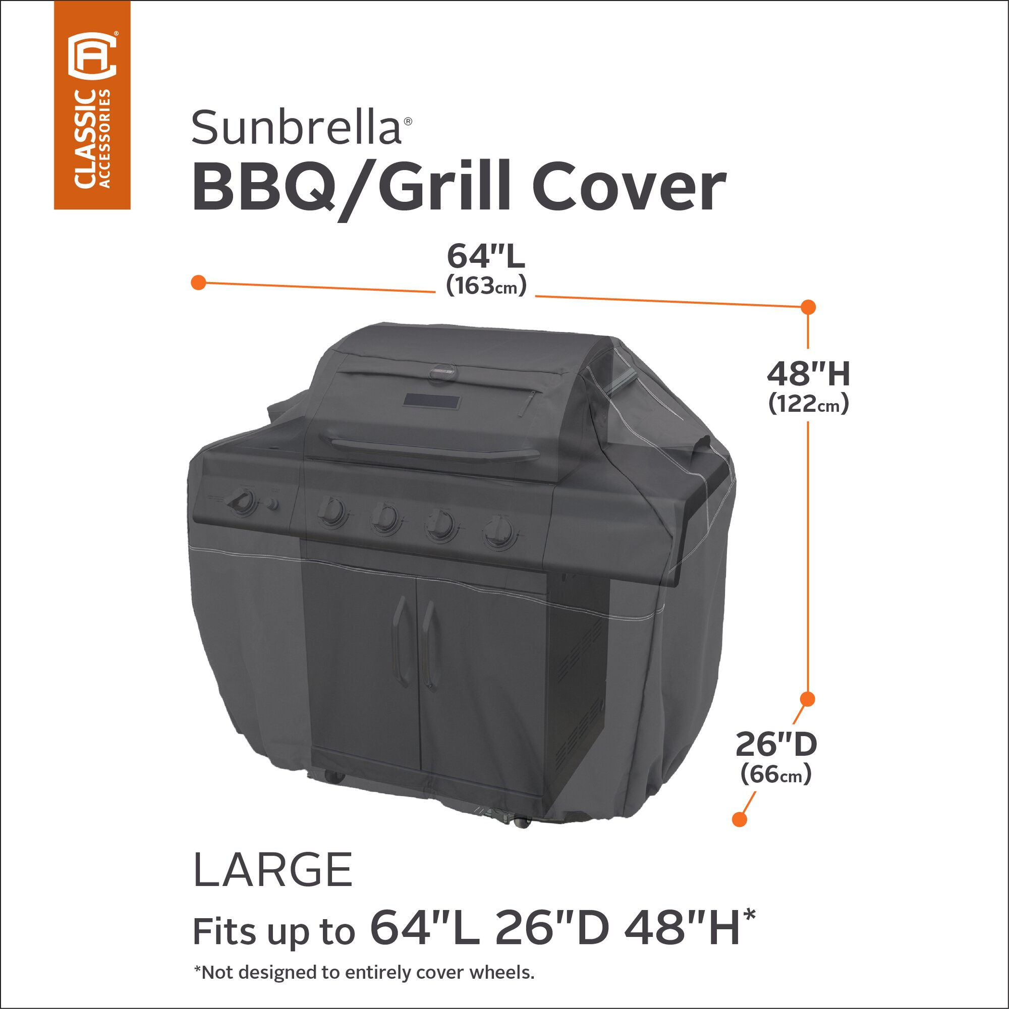 Classic Accessories Sunbrella Bbq Grill Cover Wayfair Ca