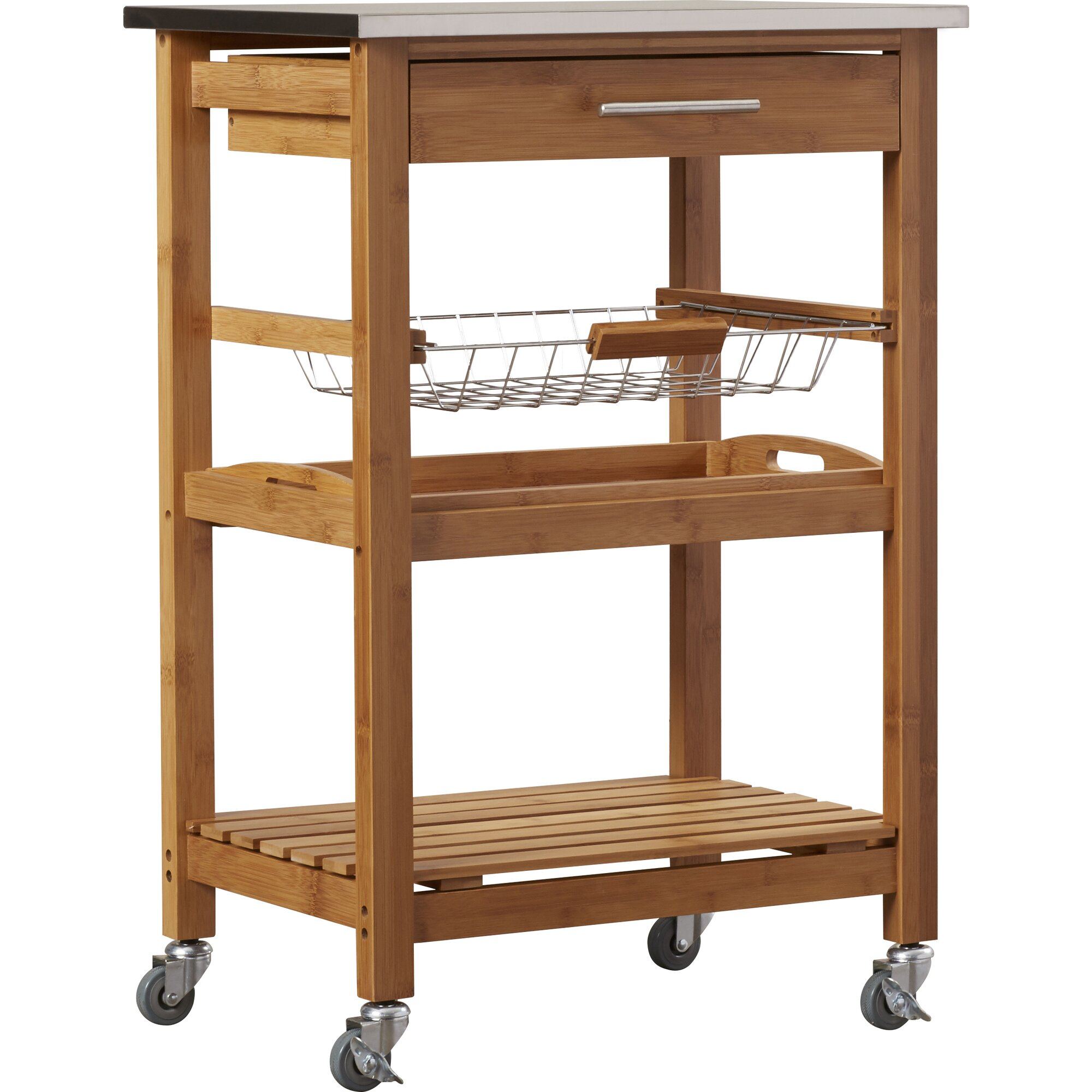 arbor oaks kitchen cart with stainless steel top amp reviews crosley lafayette kitchen cart with stainless steel top