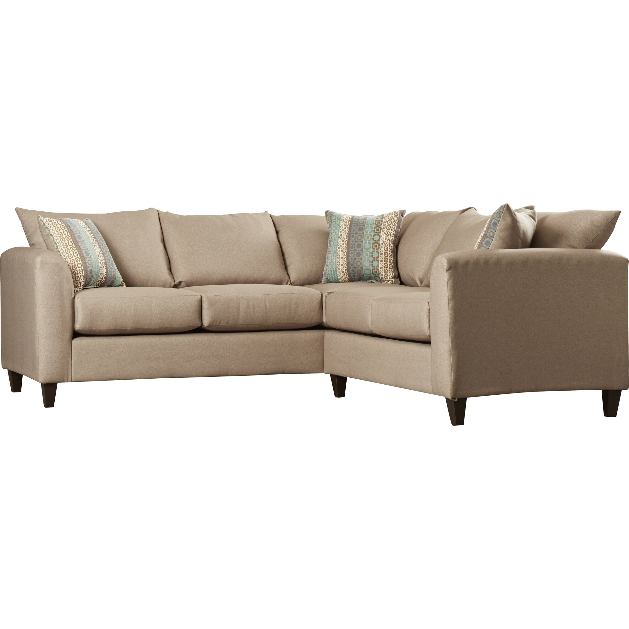 Beachcrest Home Serta Upholstery Sectional Reviews Wayfair