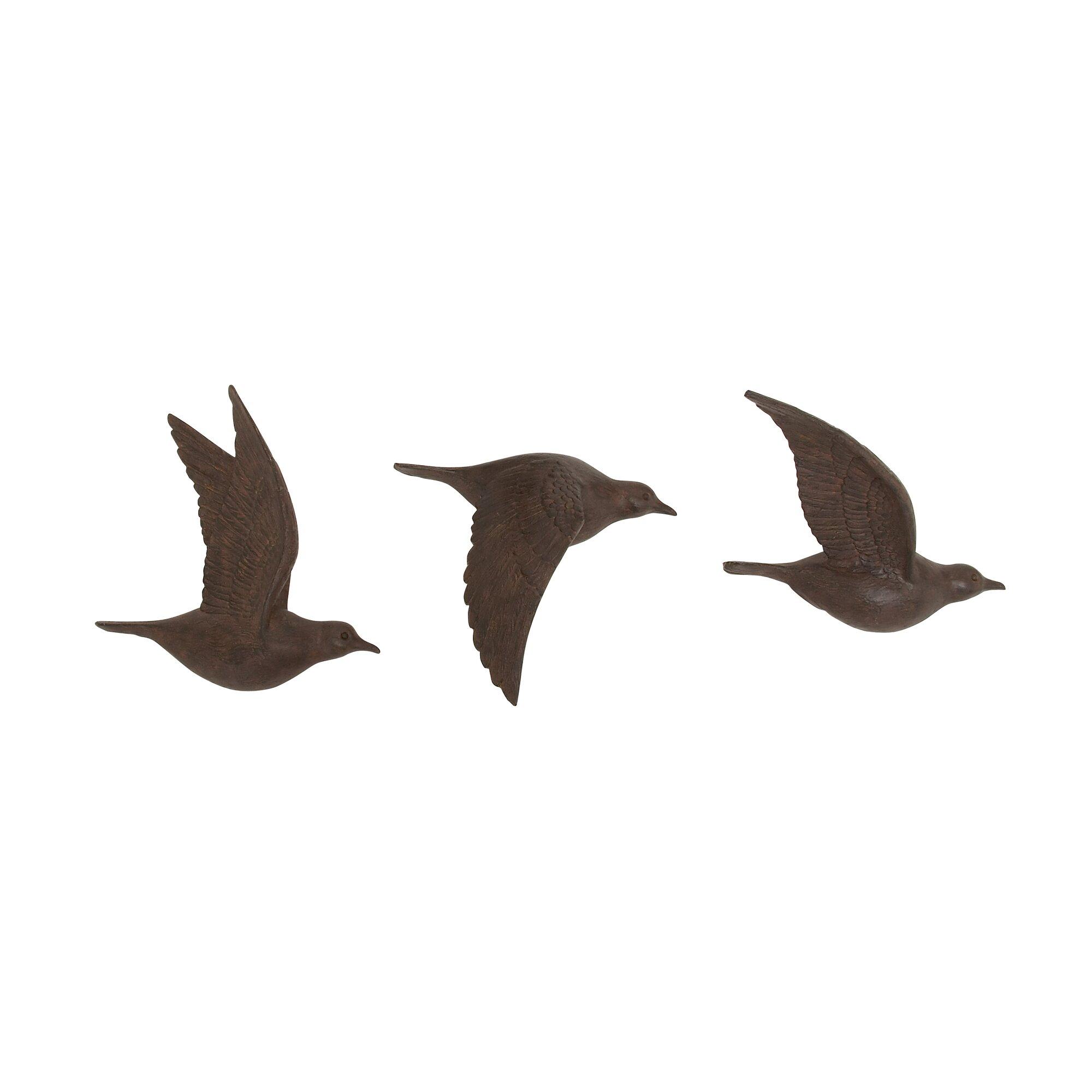 3 piece flying birds wall dcor set - Bird Wall Decor