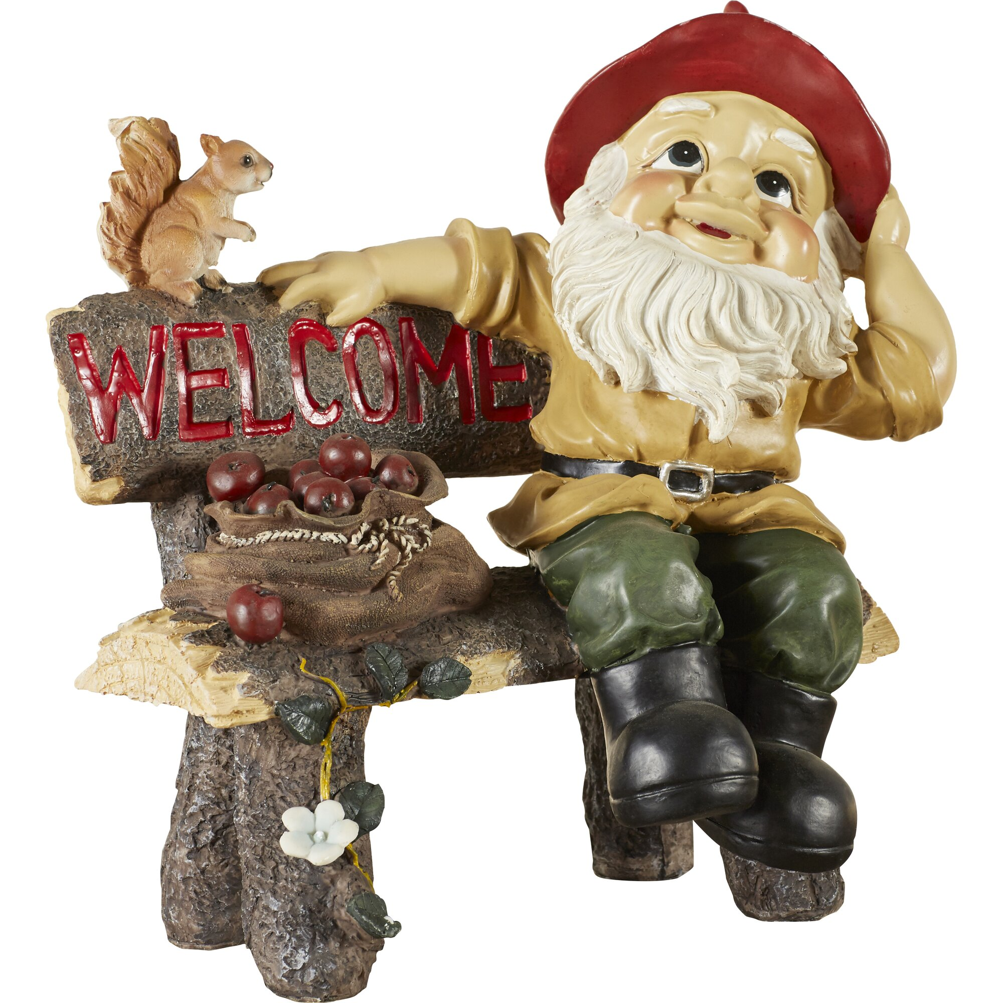 Unique lawn ornaments - Welcoming Garden Gnome Statue