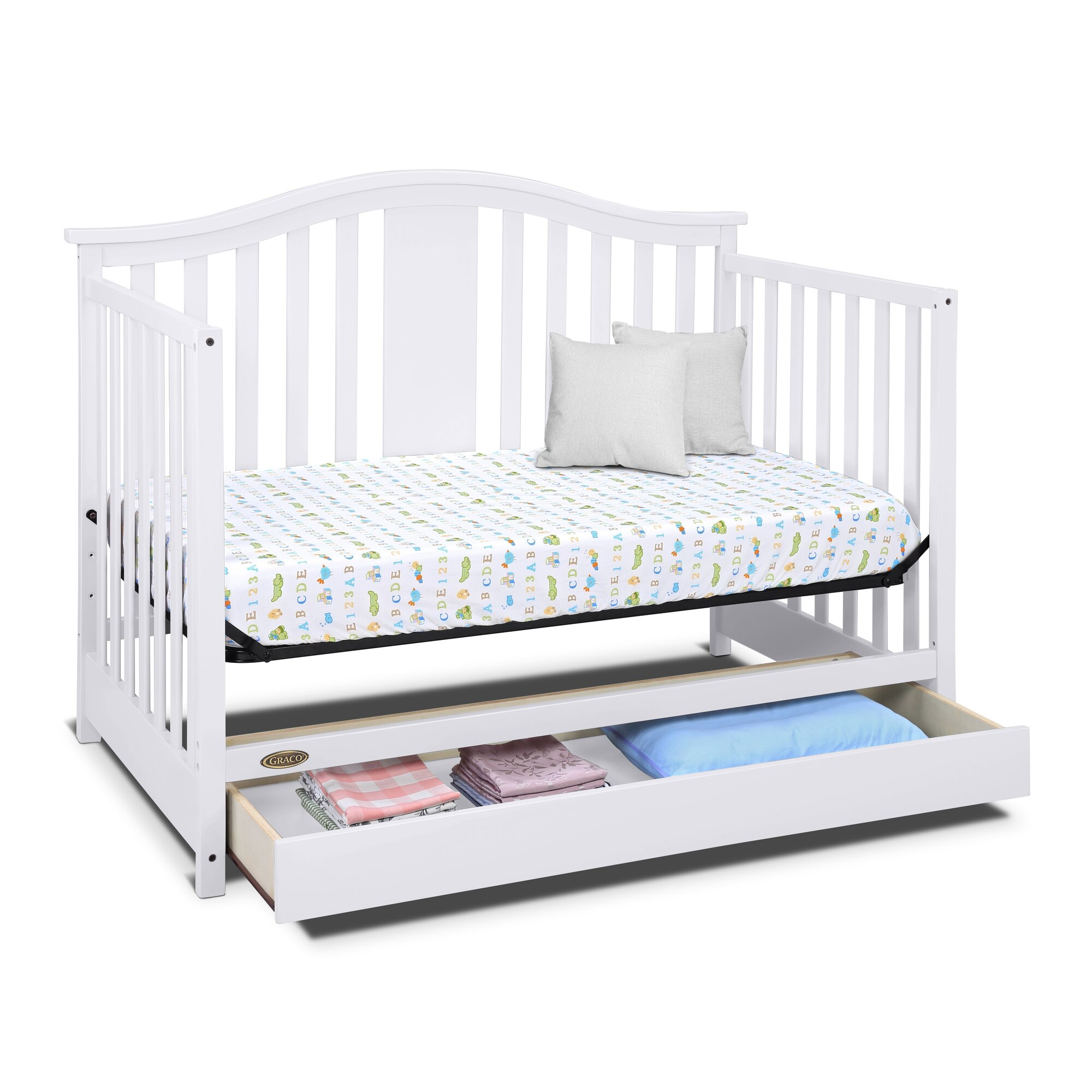 graco graco solano 4 in 1 convertible crib with drawer reviews wayfair. Black Bedroom Furniture Sets. Home Design Ideas