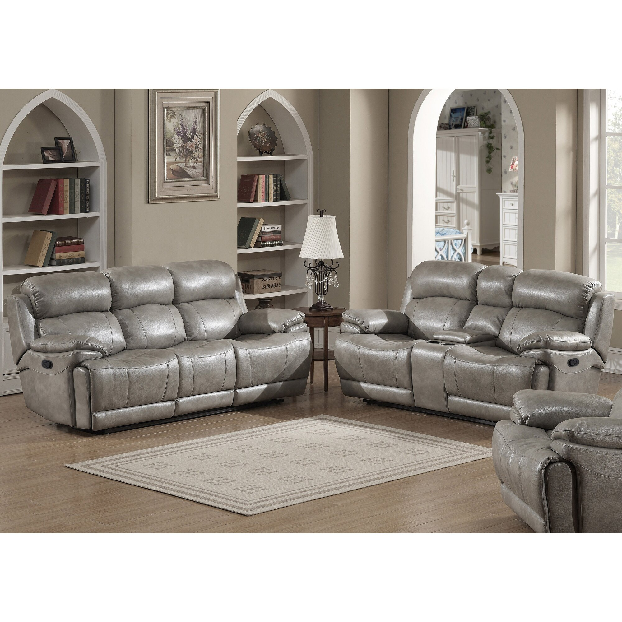 Sofa And Loveseat Sets Interesting Darby Home Co Jorgensen Leather Sofa And Loveseat Set
