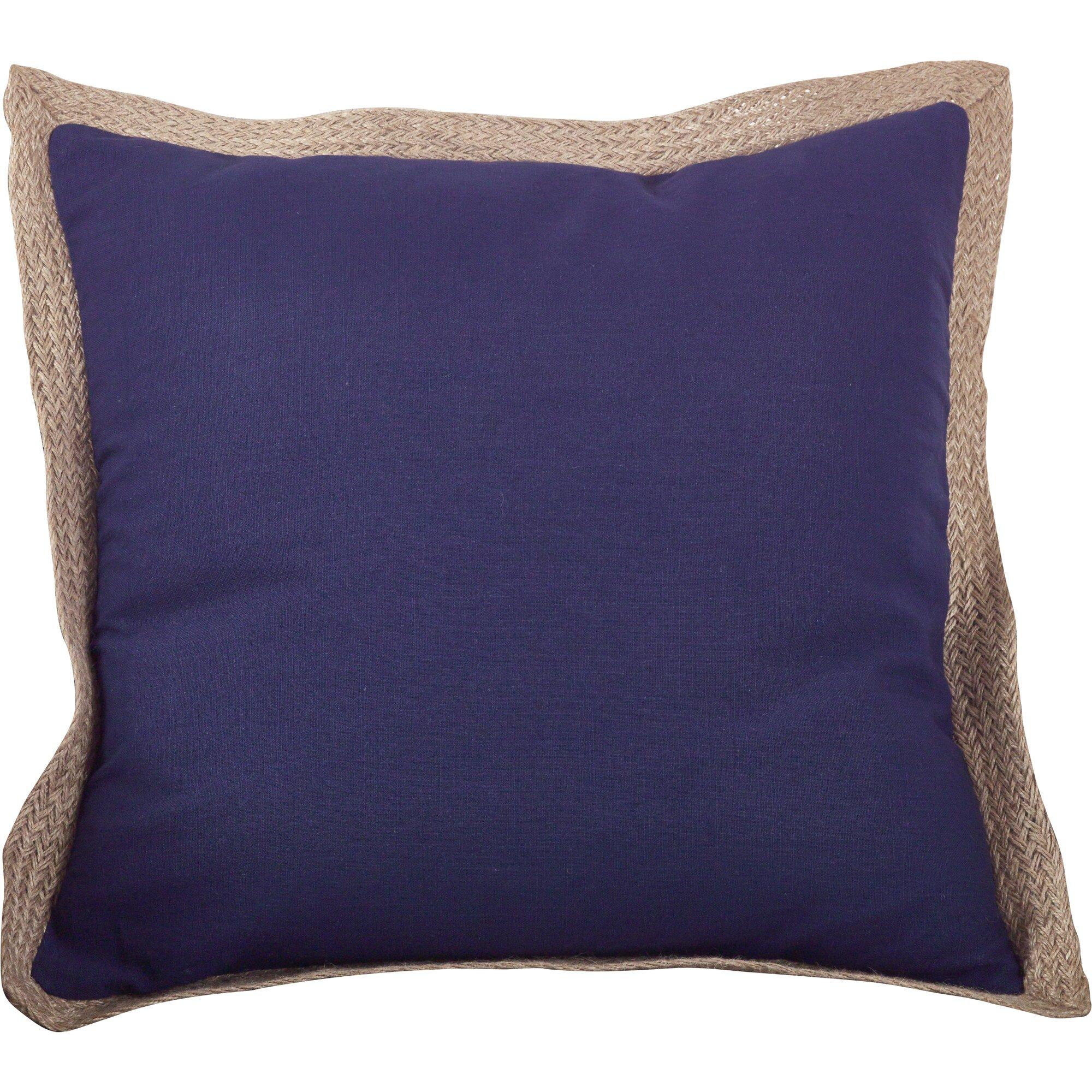 Jute Decorative Pillows : Saro Classic Jute Trim Cotton Throw Pillow & Reviews Wayfair