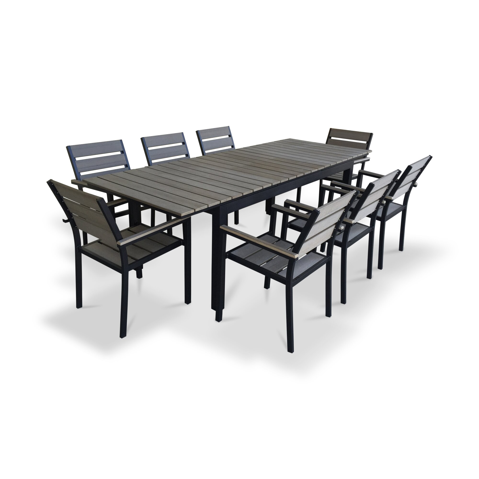piece extendable outdoor dining set reviews allmodern