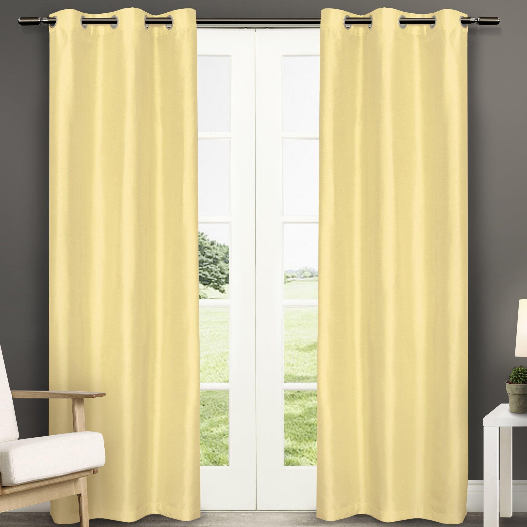 Amalgamated Textiles Dupioni Solid Semi Sheer Curtain Panels Reviews Wayfair