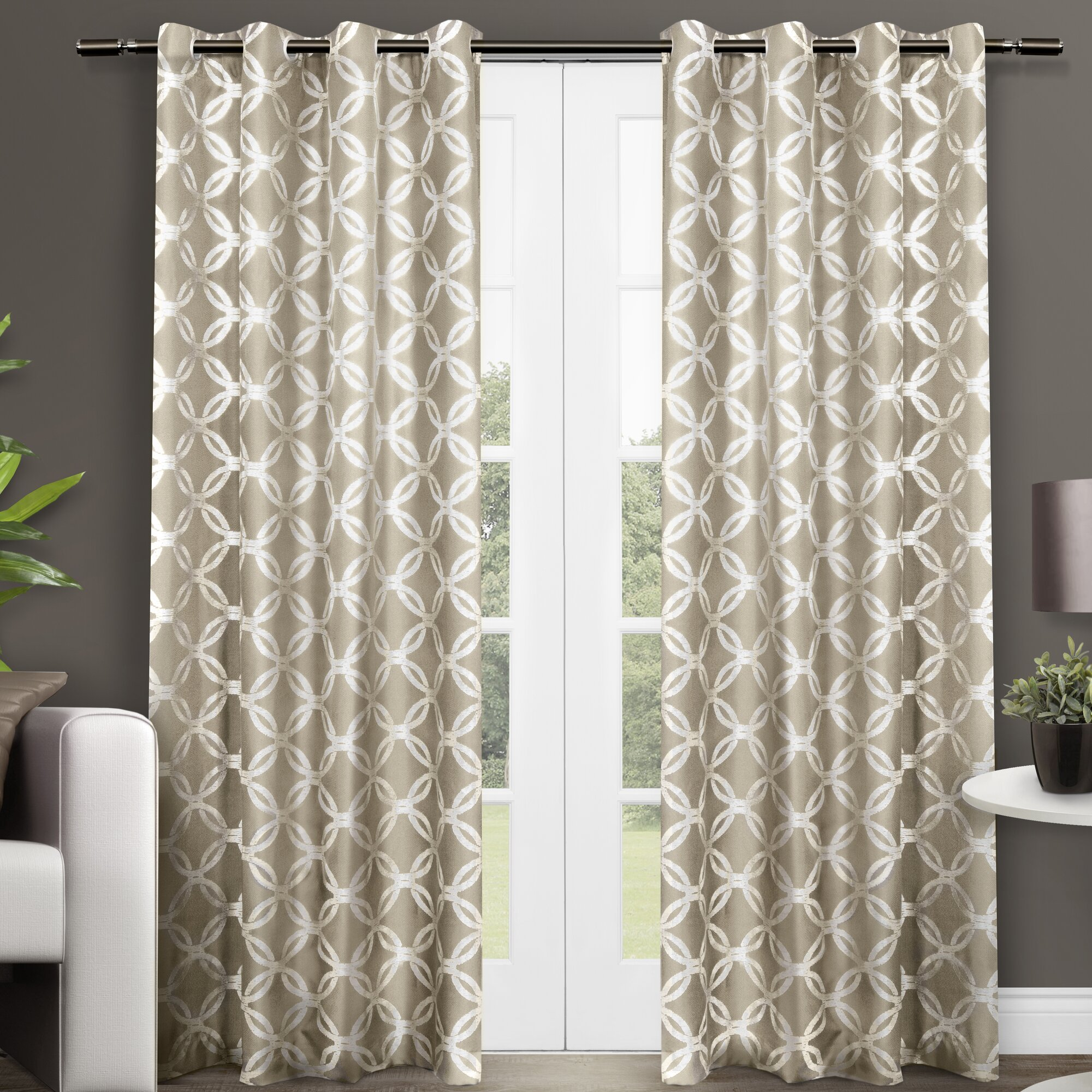 Amalgamated Textiles Modo Geometric Semi Sheer Curtain Panels Reviews