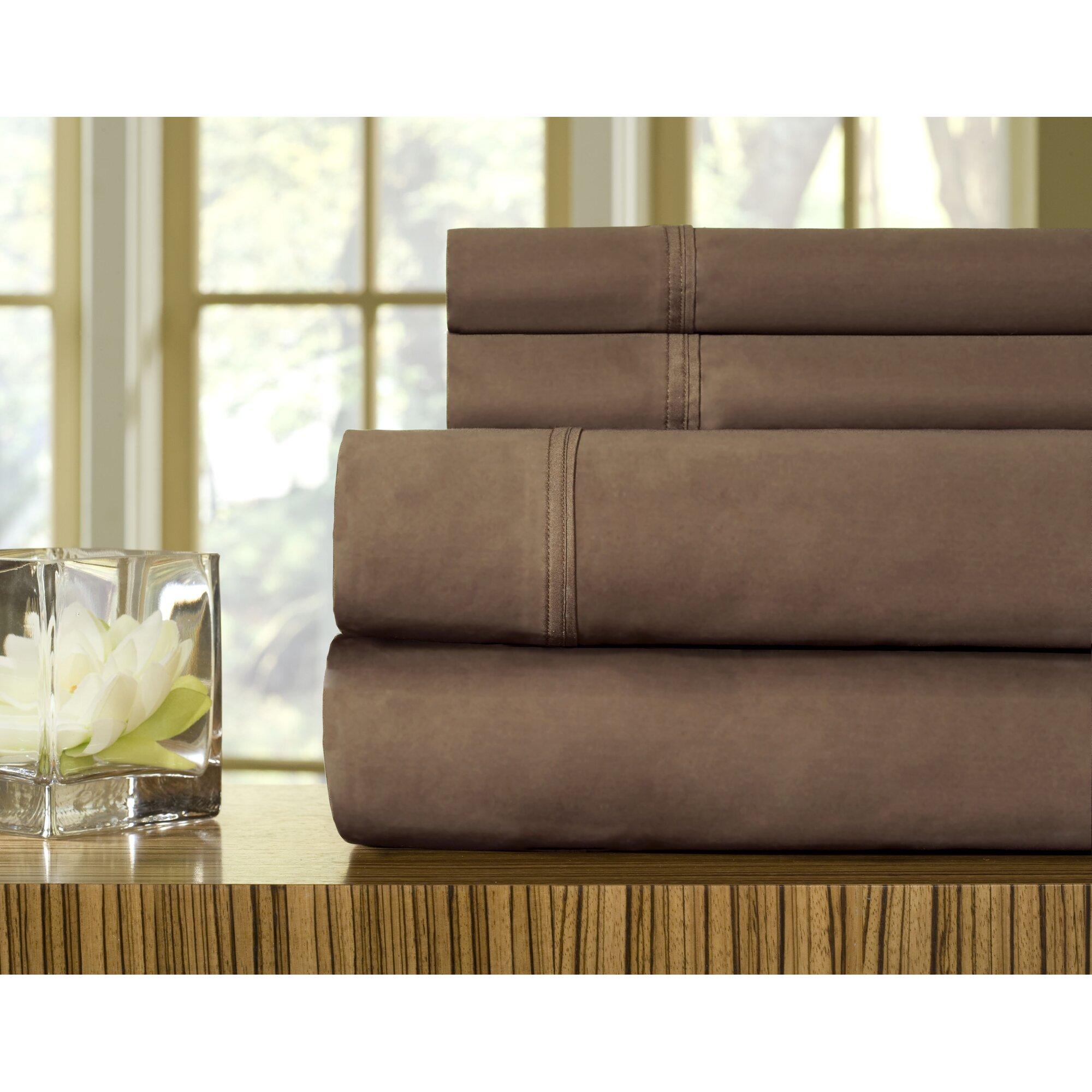 celeste home 510 thread count egyptian quality cotton sheet set reviews wayfair. Black Bedroom Furniture Sets. Home Design Ideas