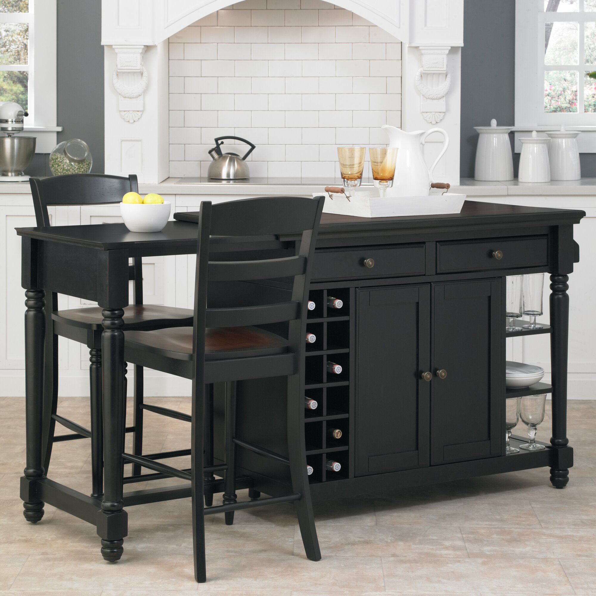Darby Home Co Cleanhill 3 Piece Kitchen Island Set u0026 Reviews Wayfair