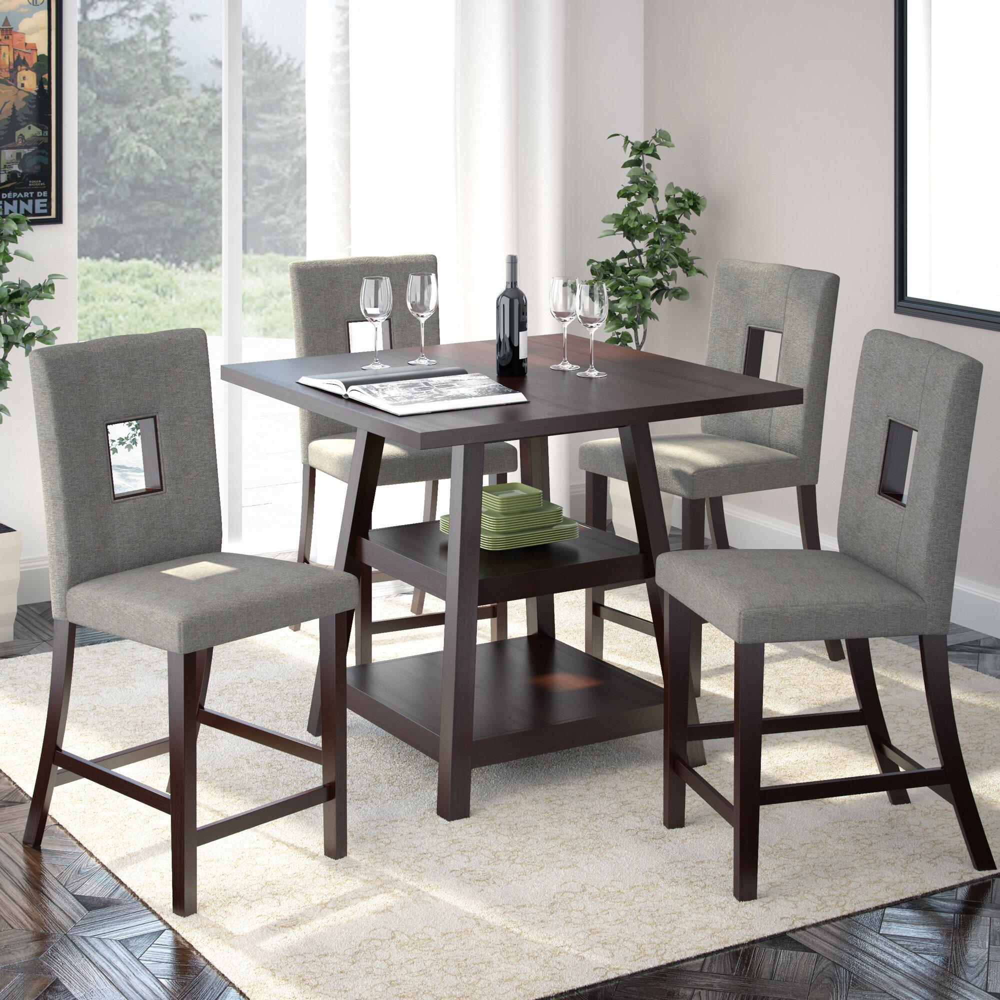 burgess 5 piece counter height dining set reviews allmodern