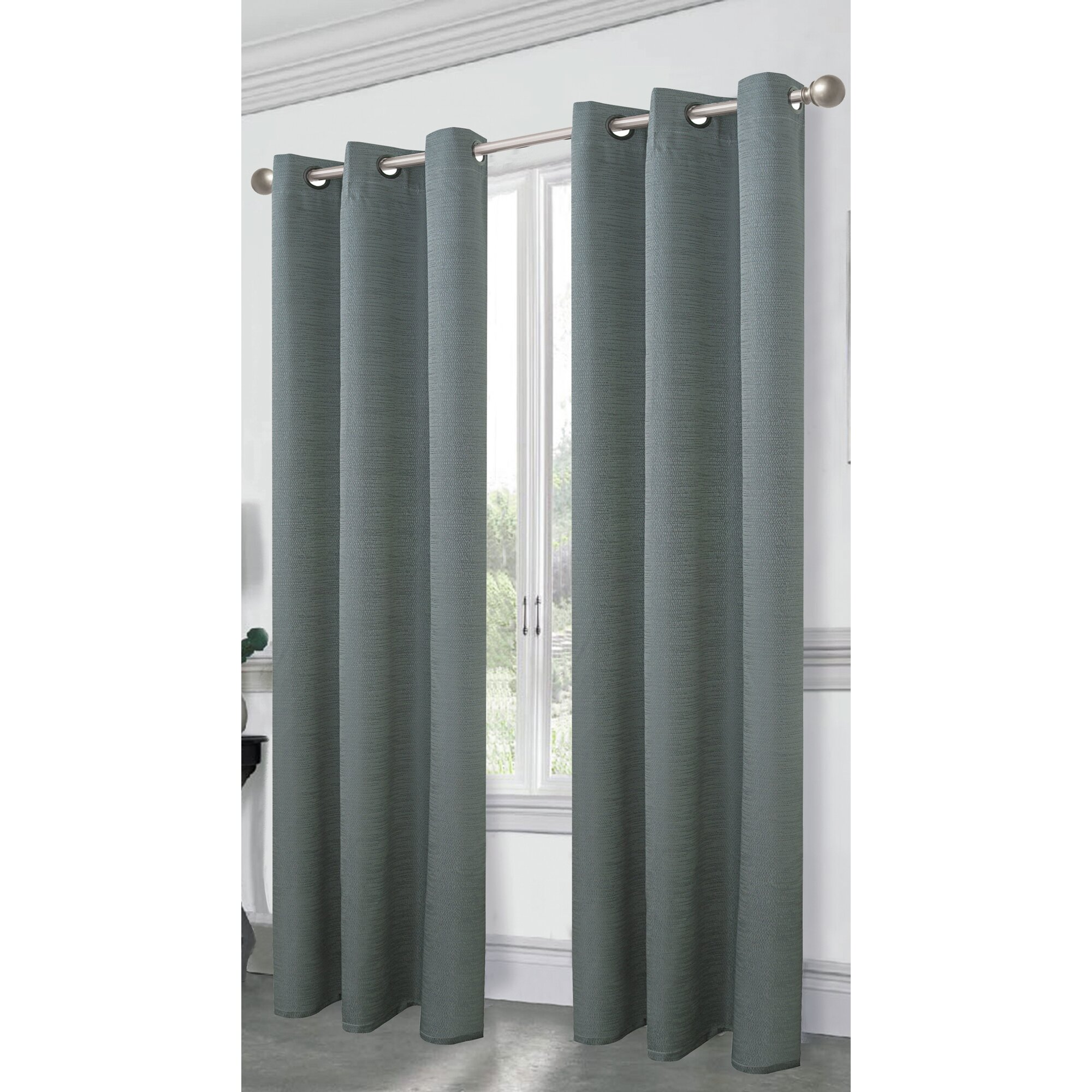 Charming Dainty Home Cambridge Solid Blackout Thermal Grommet Curtain