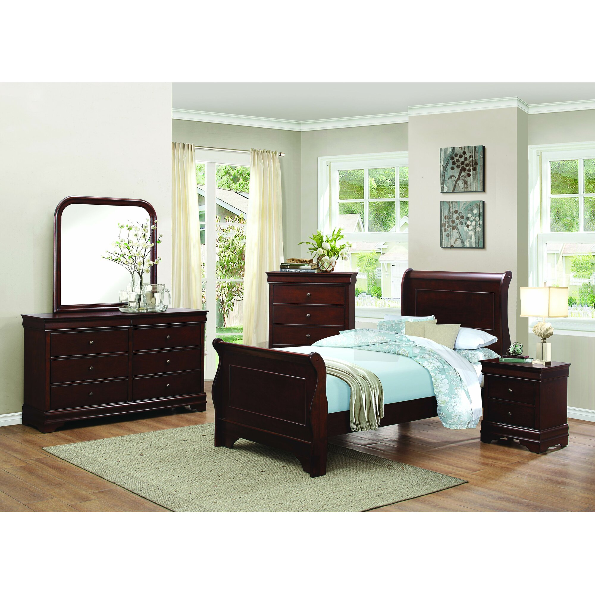 Abbeville Sleigh Customizable Bedroom Set