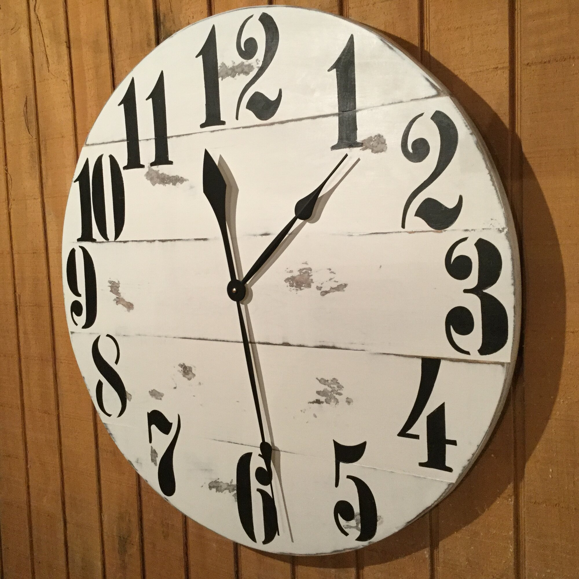 essex crafted wood products oversized 28 quot rayleigh painted wood wall clock wayfair ca