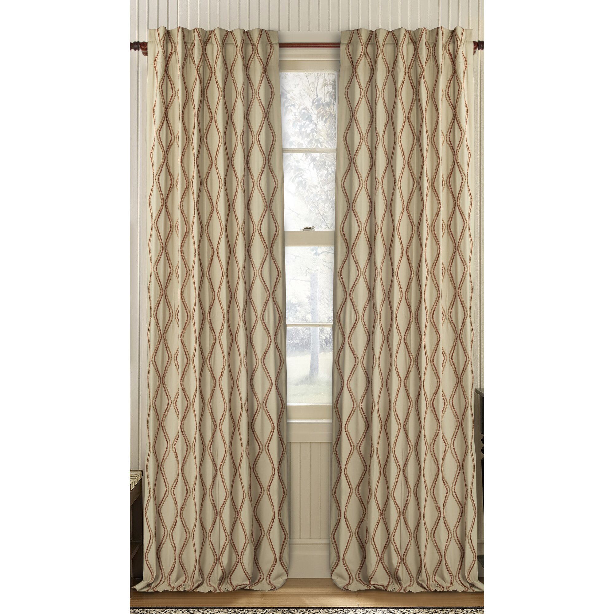 Gracious Living Enlace Geometric Semi Sheer Rod Pocket