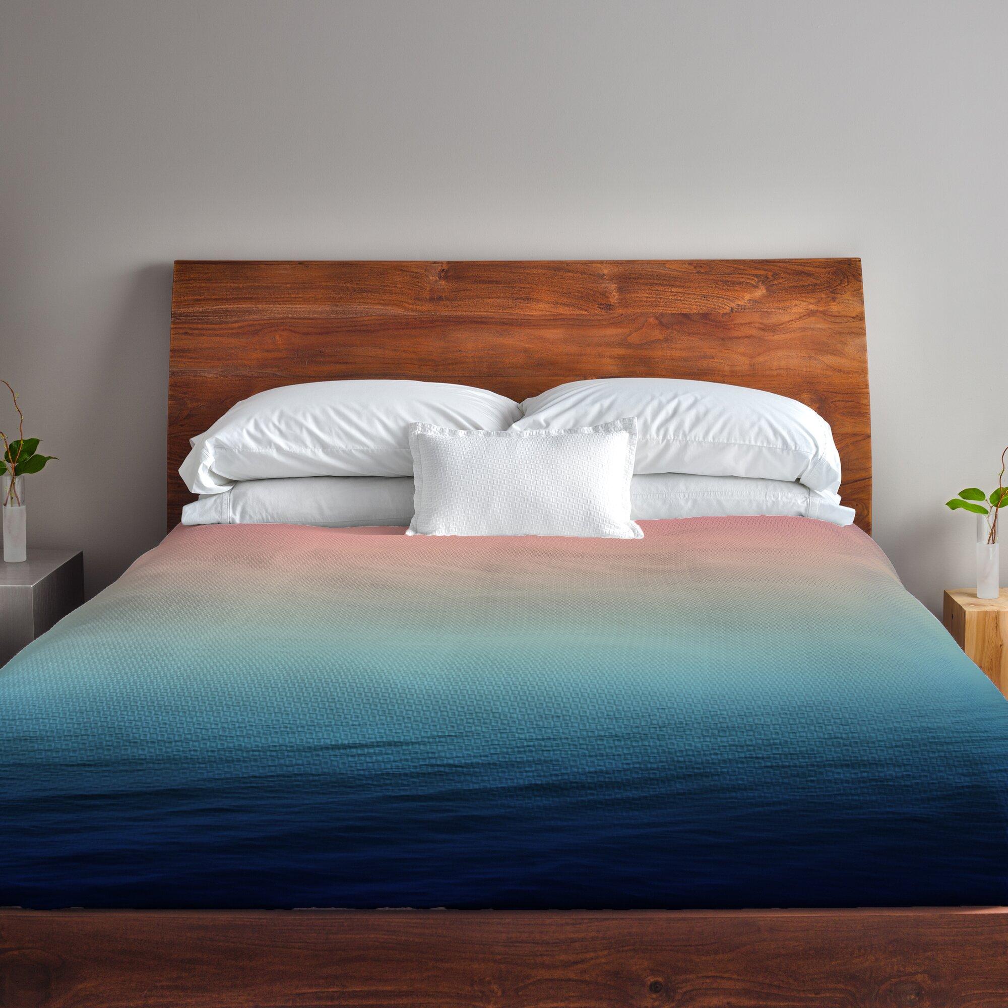 One Bella Casa Deap Sea Fleece Duvet Cover Amp Reviews Wayfair