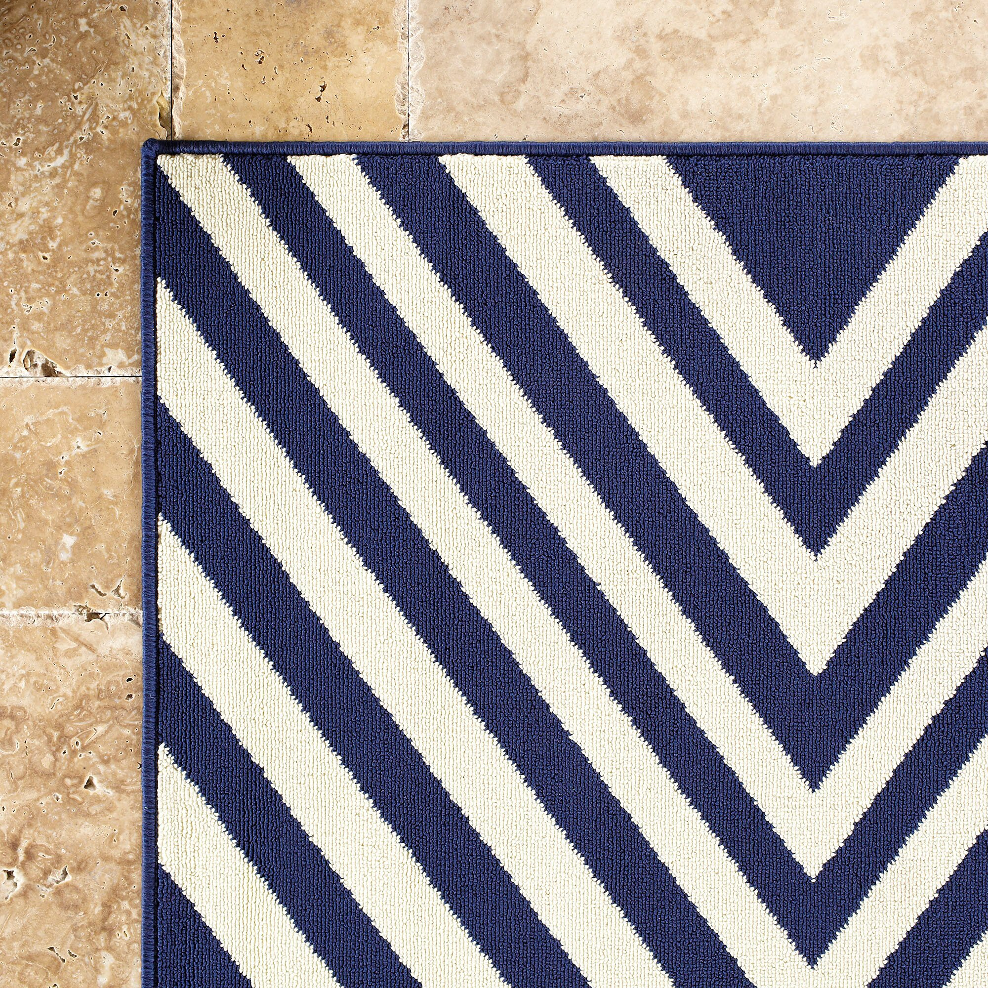 Solana Navy Ivory Indoor Outdoor Area Rug & Reviews