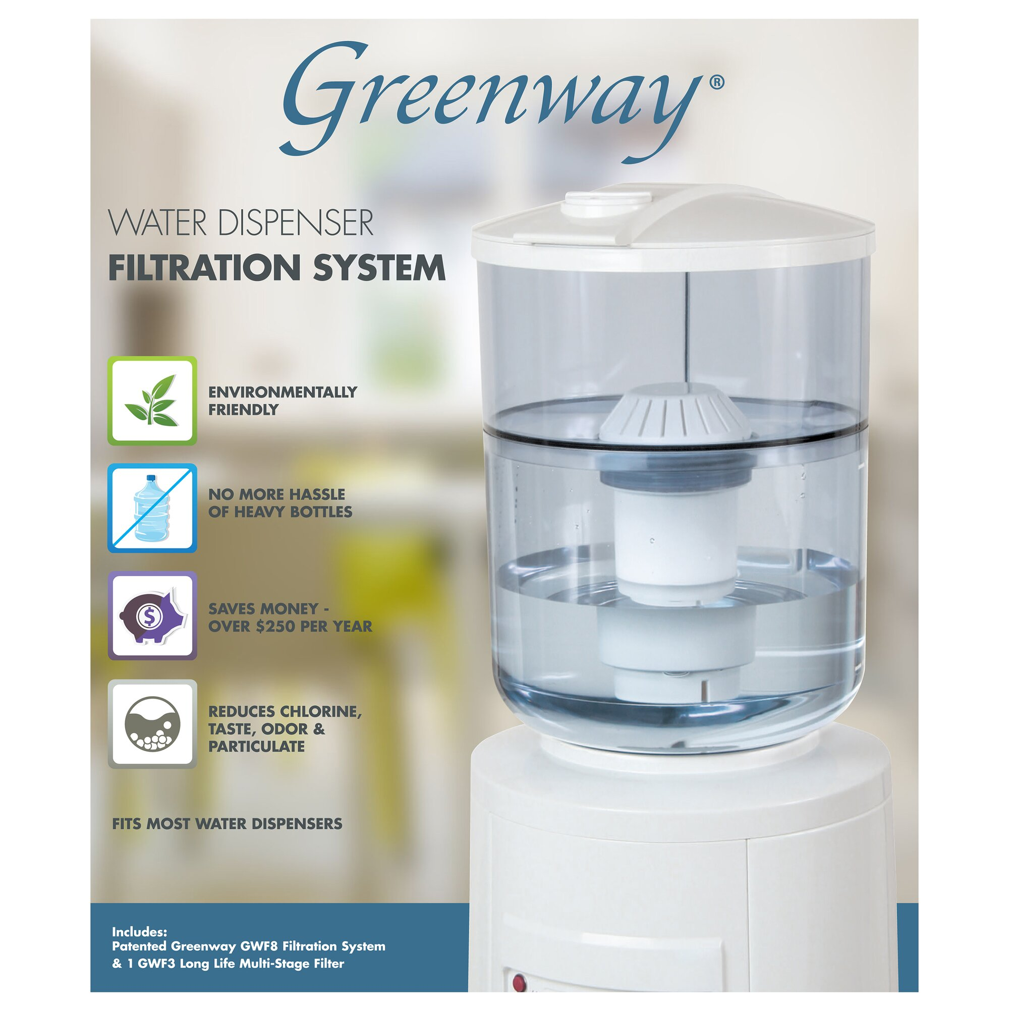 Greenway water cooler filtration system reviews wayfair for Water fountain filtration system