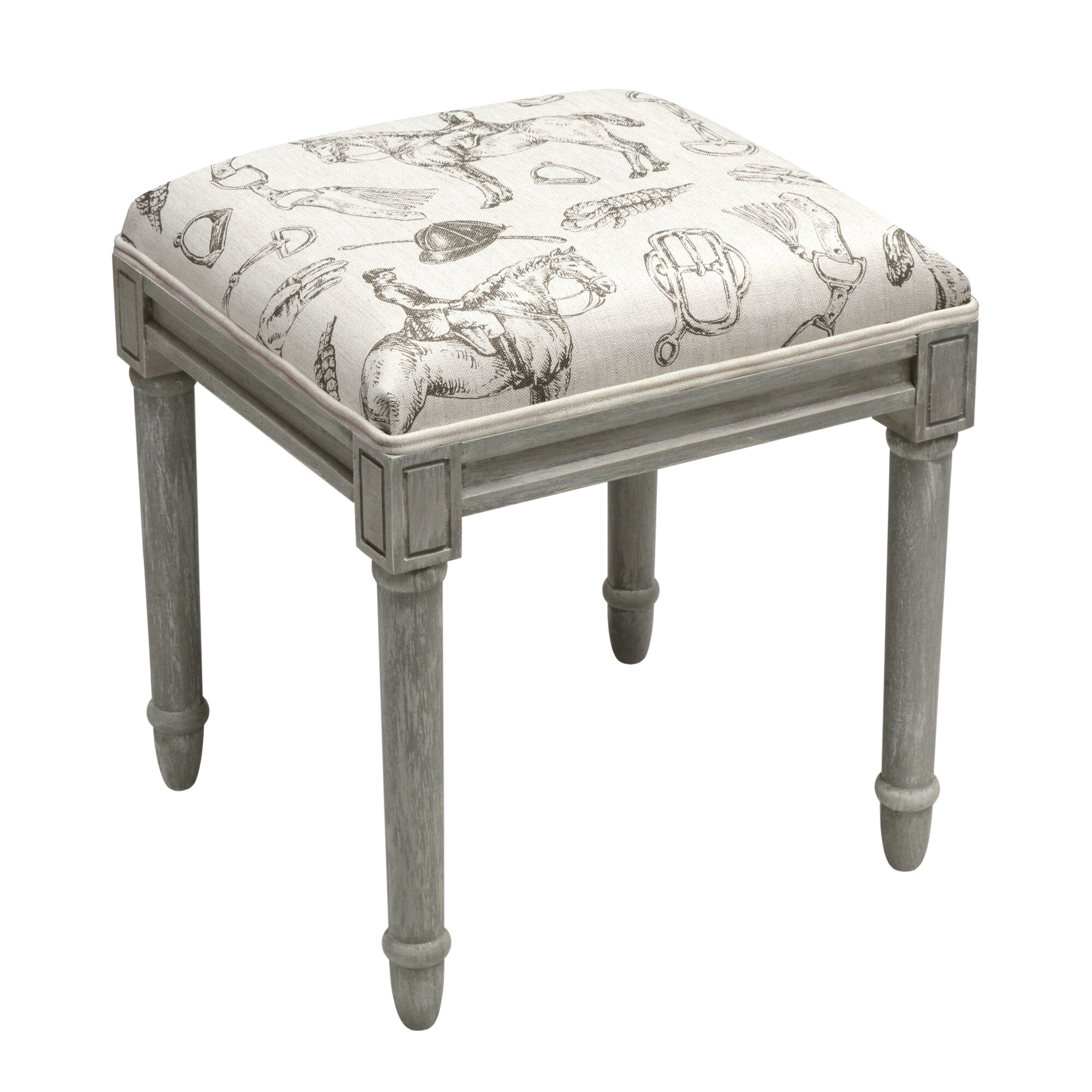 123 Creations Equestrian Vanity Stool Wayfair