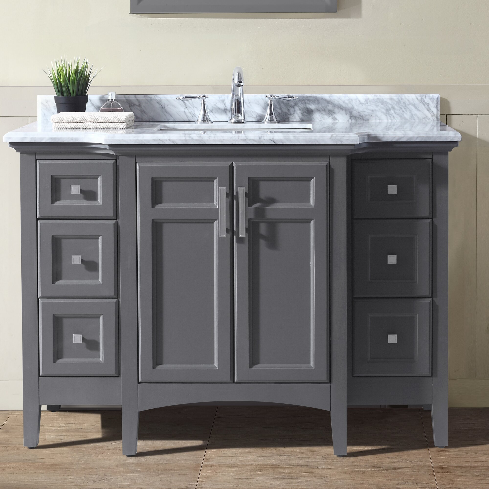 "Ari Kitchen & Bath Luz 48"" Single Bathroom Vanity Set ..."