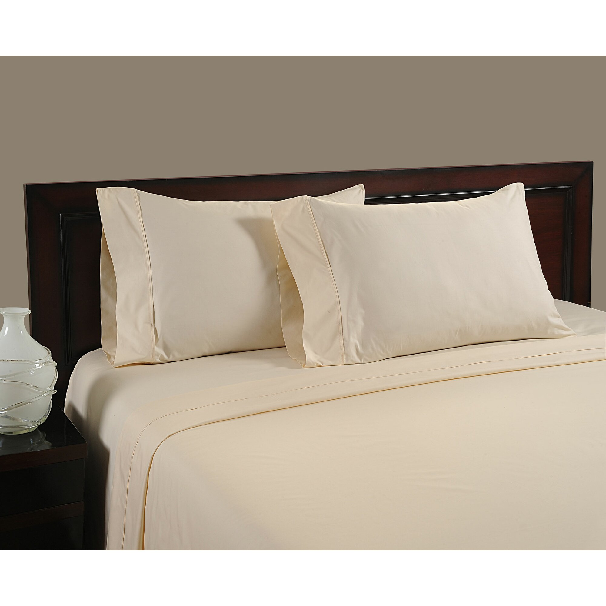 color sense cool touch 400 thread count cotton sheet set reviews wayfair. Black Bedroom Furniture Sets. Home Design Ideas