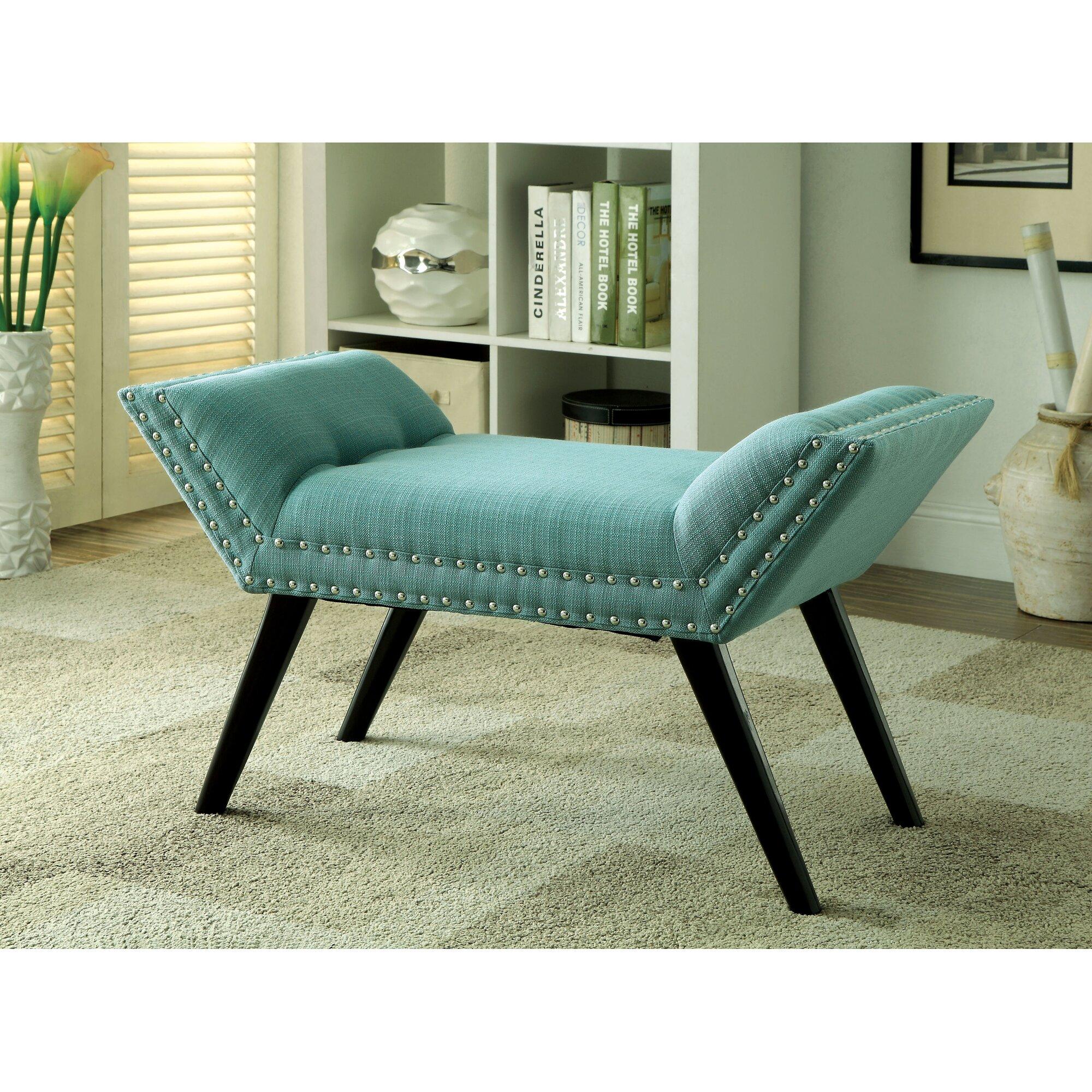 Hokku Designs Linden Upholstered Bedroom Bench Reviews