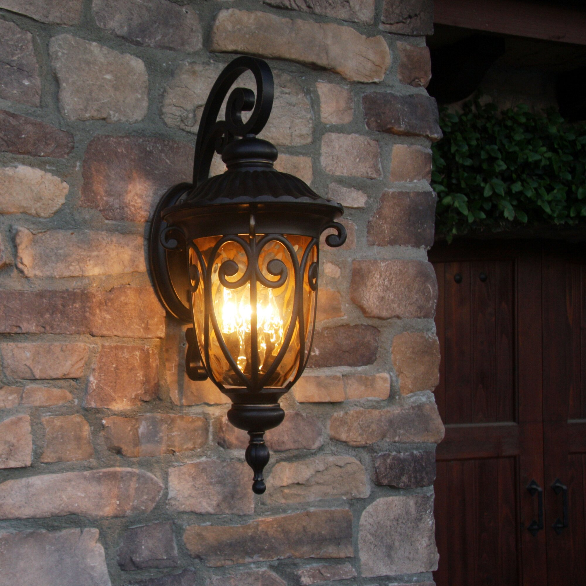 Wall Lantern Decor : Y Decor Hailee 1-Light Outdoor Wall Lantern & Reviews Wayfair